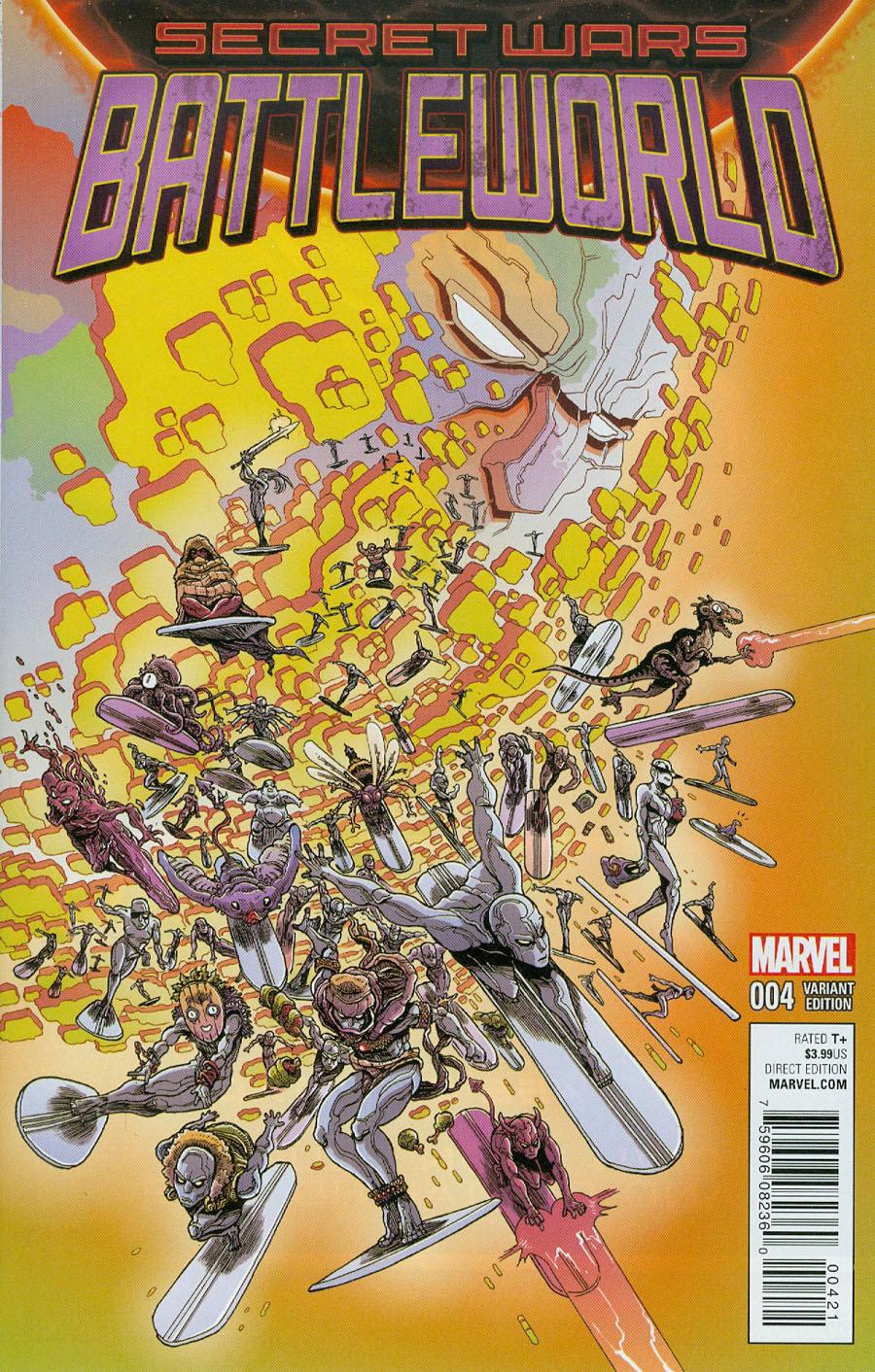 Secret Wars Battleworld #4 Cover B Incentive James Stokoe Variant Cover (Secret Wars Battleworld Tie-In)