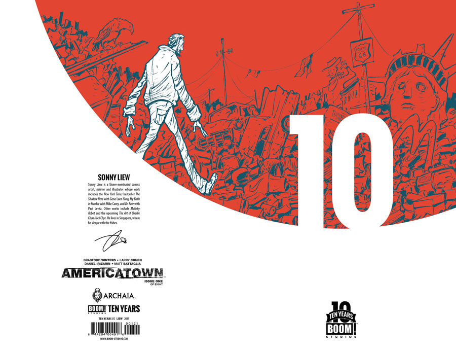 Americatown #1 Cover B Incentive Sonny Liew BOOM 10 Years Anniversary Virgin Variant Cover