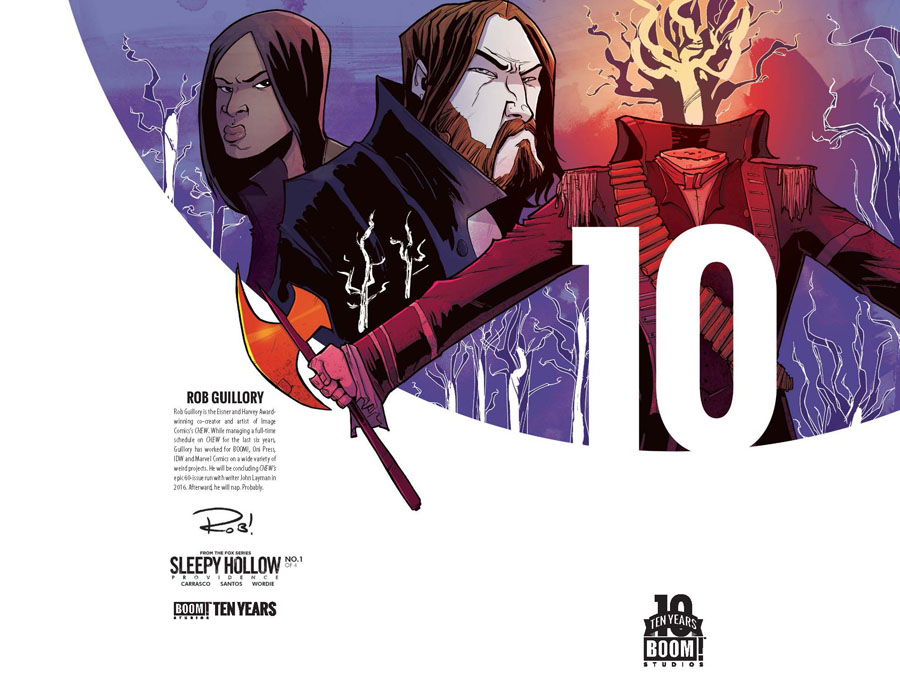 Sleepy Hollow Providence #1 Cover C Incentive Rob Guillory BOOM 10 Years Anniversary Virgin Variant Cover