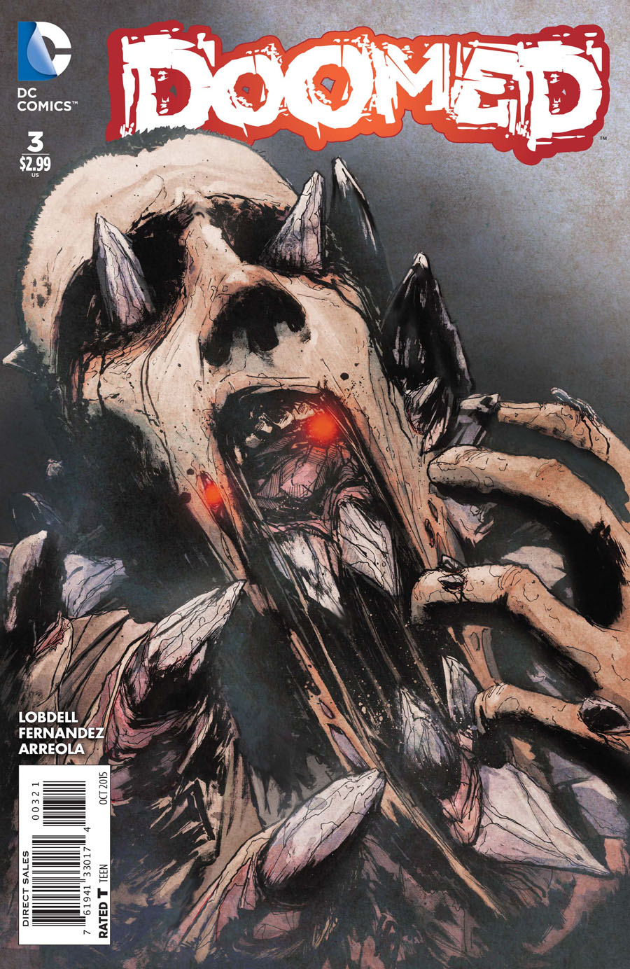 Doomed #3 Cover B Incentive T Rex Variant Cover