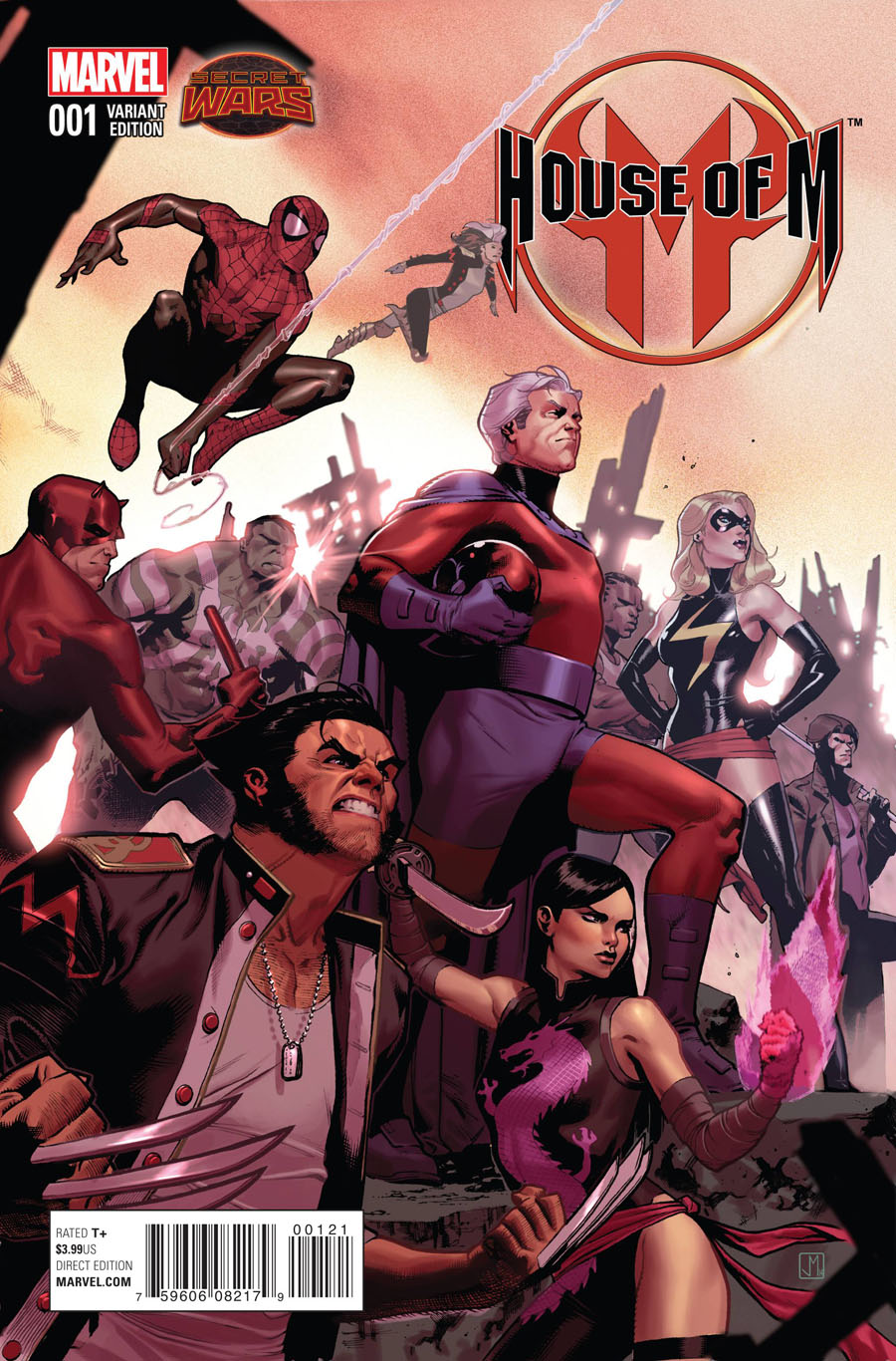House Of M Vol 2 #1 Cover D Incentive Jorge Molina Promo Variant Cover (Secret Wars Warzones Tie-In)
