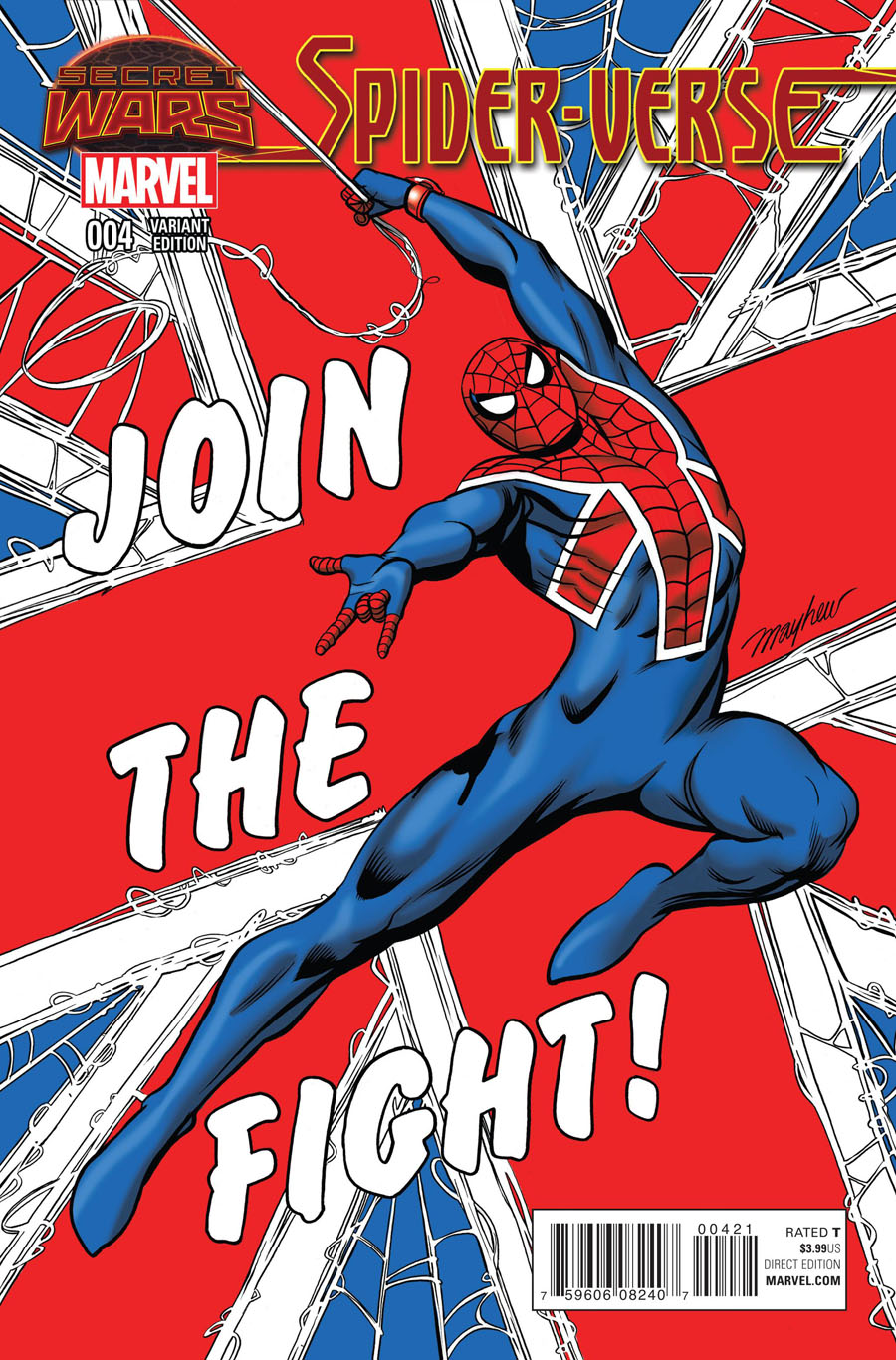 Spider-Verse Vol 2 #4 Cover B Incentive Mike Mayhew Variant Cover (Secret Wars Warzones Tie-In)