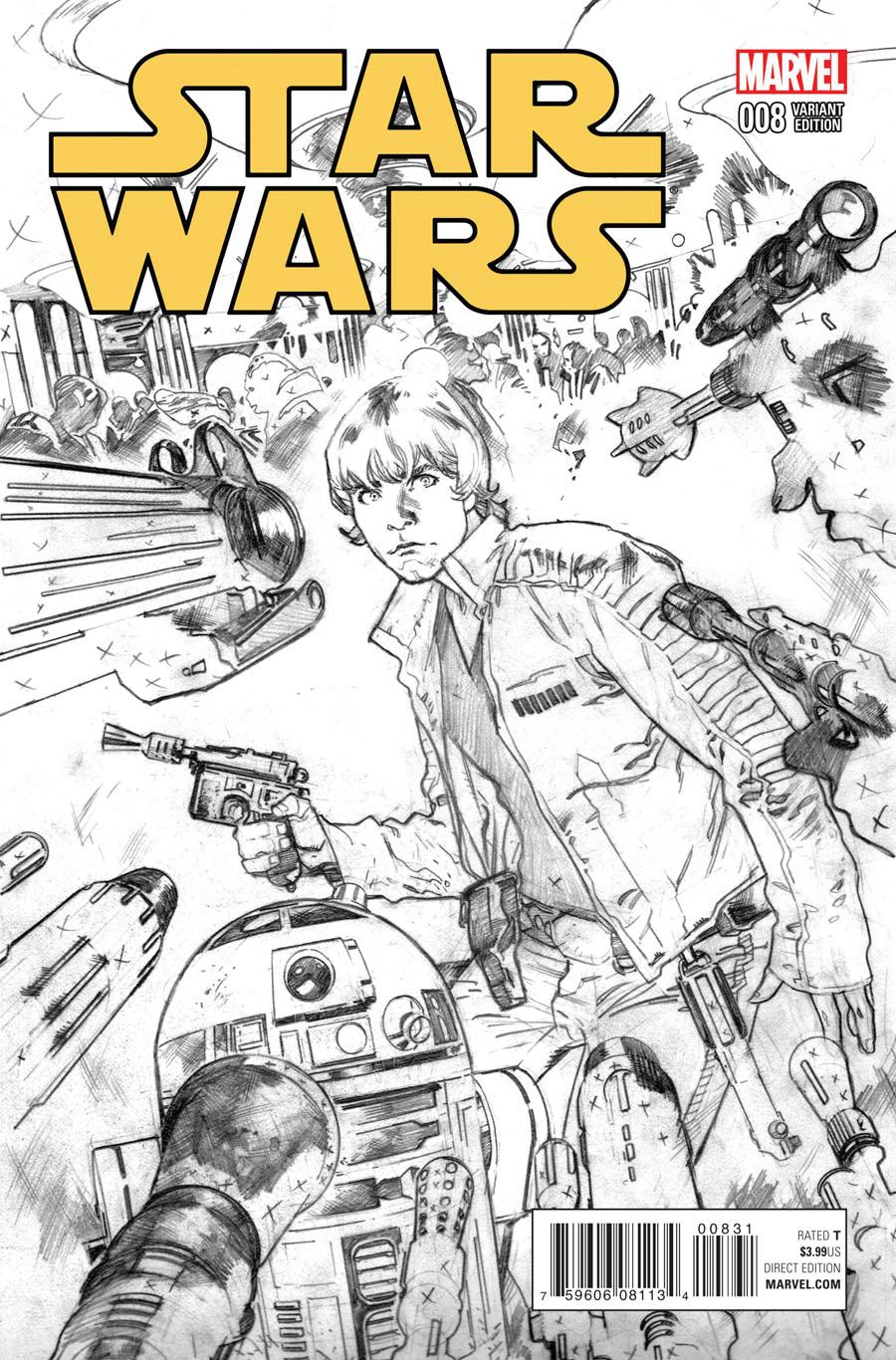 Star Wars Vol 4 #8 Cover D Incentive Stuart Immonen Sketch Cover
