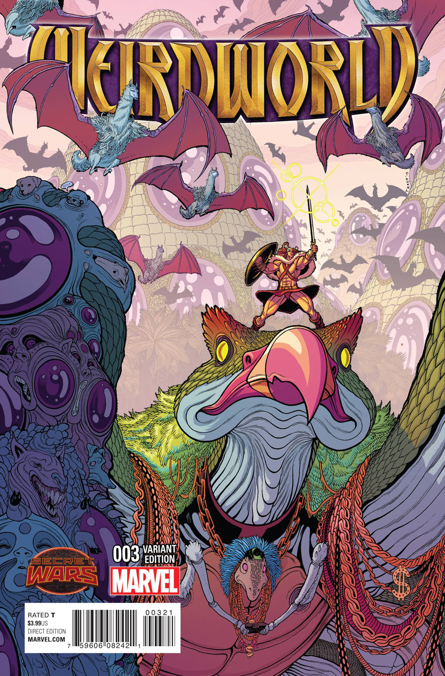 Weirdworld #3 Cover B Incentive Tradd Moore Variant Cover (Secret Wars Warzones Tie-In)