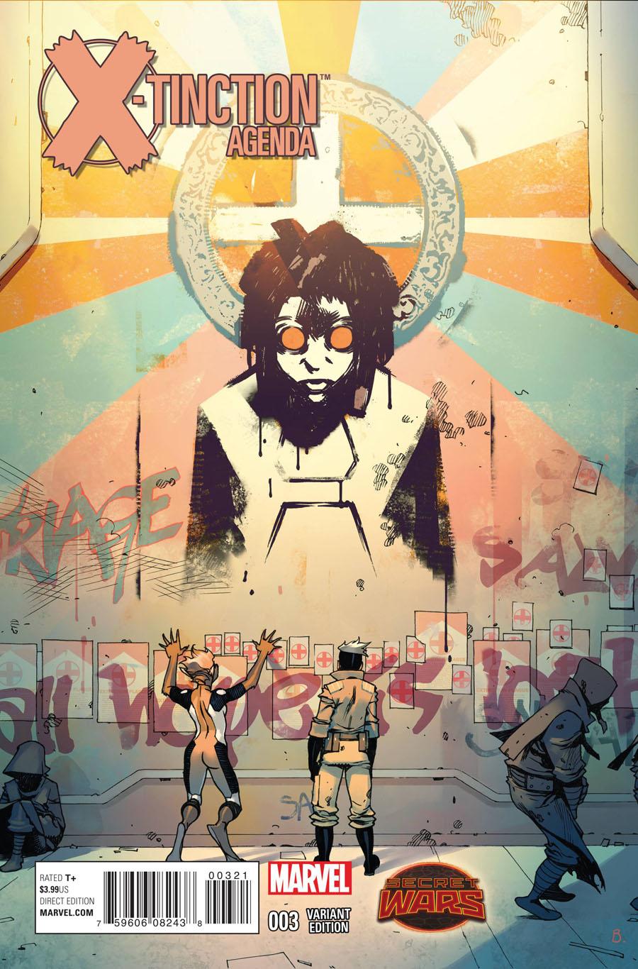 X-Tinction Agenda #3 Cover B Incentive Variant Cover (Secret Wars Warzones Tie-In)