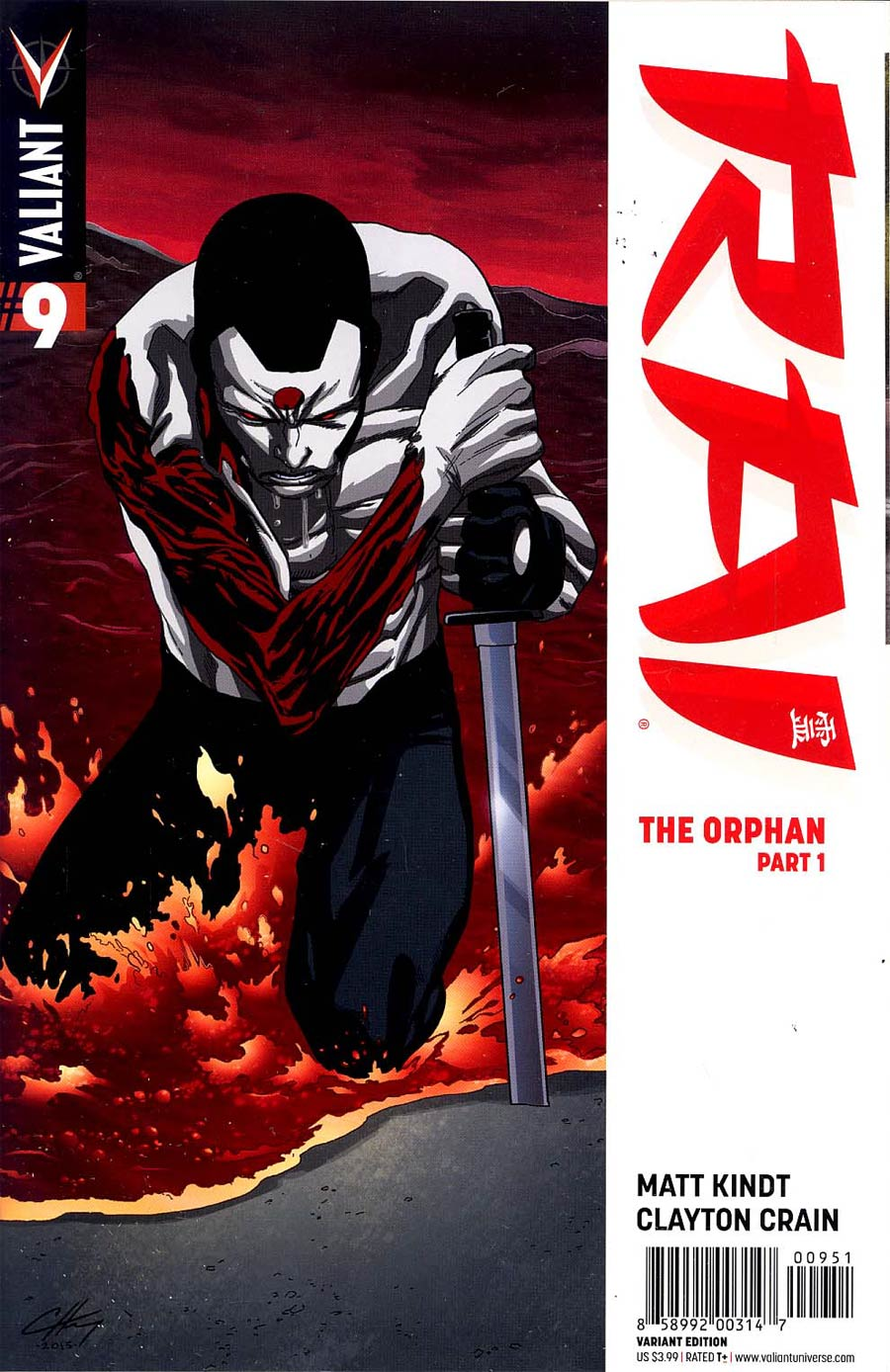 Rai Vol 2 #9 Cover E Incentive Clayton Henry Variant Cover