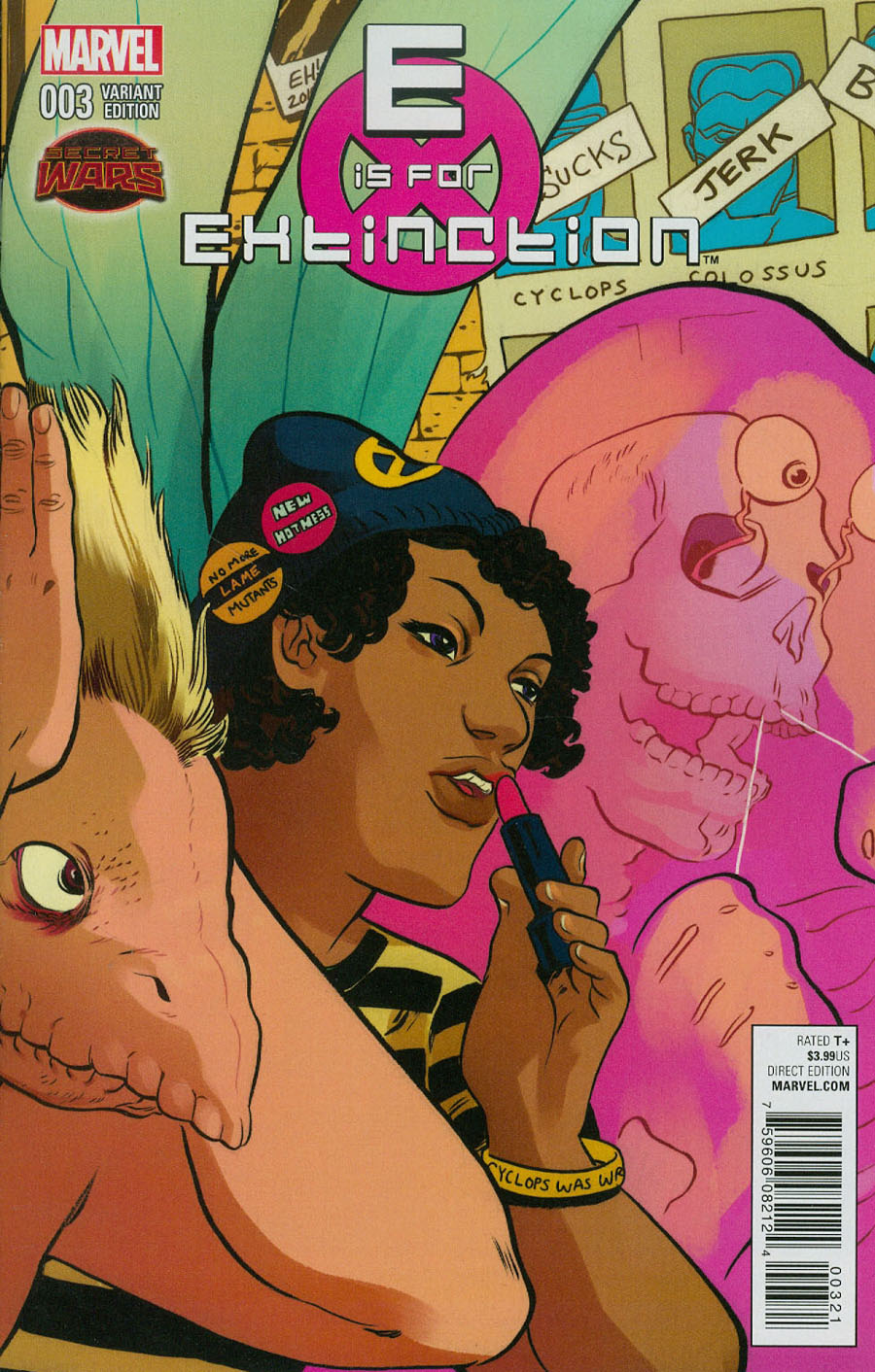 E Is For Extinction #3 Cover B Incentive Erica Henderson Variant Cover (Secret Wars Warzones Tie-In)
