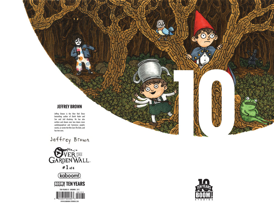 Over The Garden Wall #1 Cover D Incentive Jeffrey Brown BOOM 10 Years Anniversary Virgin Variant Cover