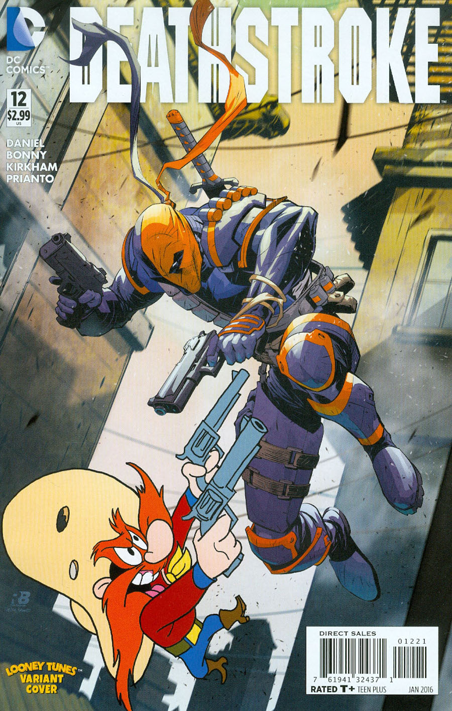 Deathstroke Vol 3 #12 Cover B Variant Ryan Benjamin & Warner Bros Animation DC x Looney Tunes Cover