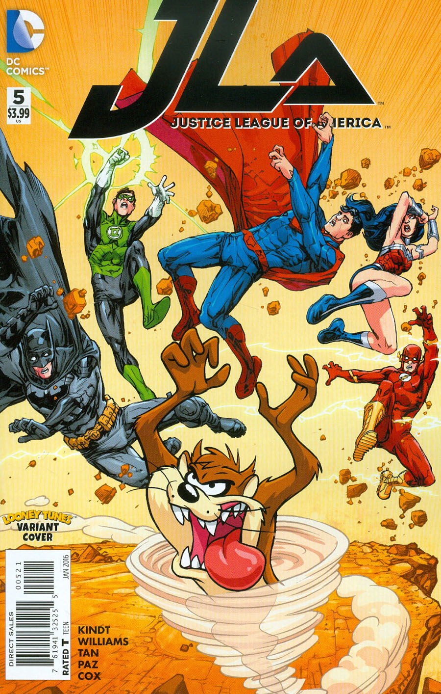 Justice League Of America Vol 4 #5 Cover B Variant Howard Porter & Warner Bros Animation DC x Looney Tunes Cover