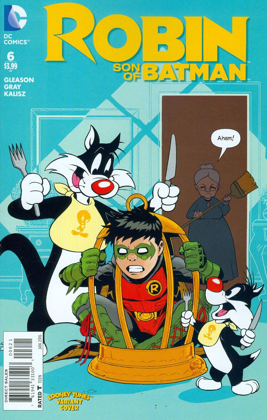 Robin Son Of Batman #6 Cover B Variant Patrick Gleason & Warner Bros Animation DC x Looney Tunes Cover