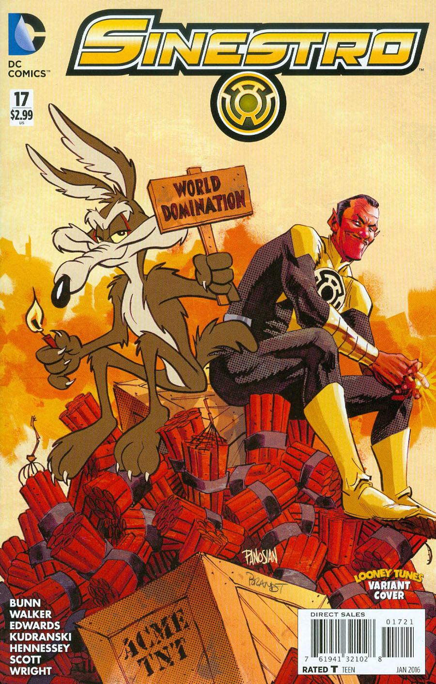 Sinestro #17 Cover B Variant Dan Panosian & Warner Bros Animation DC x Looney Tunes Cover