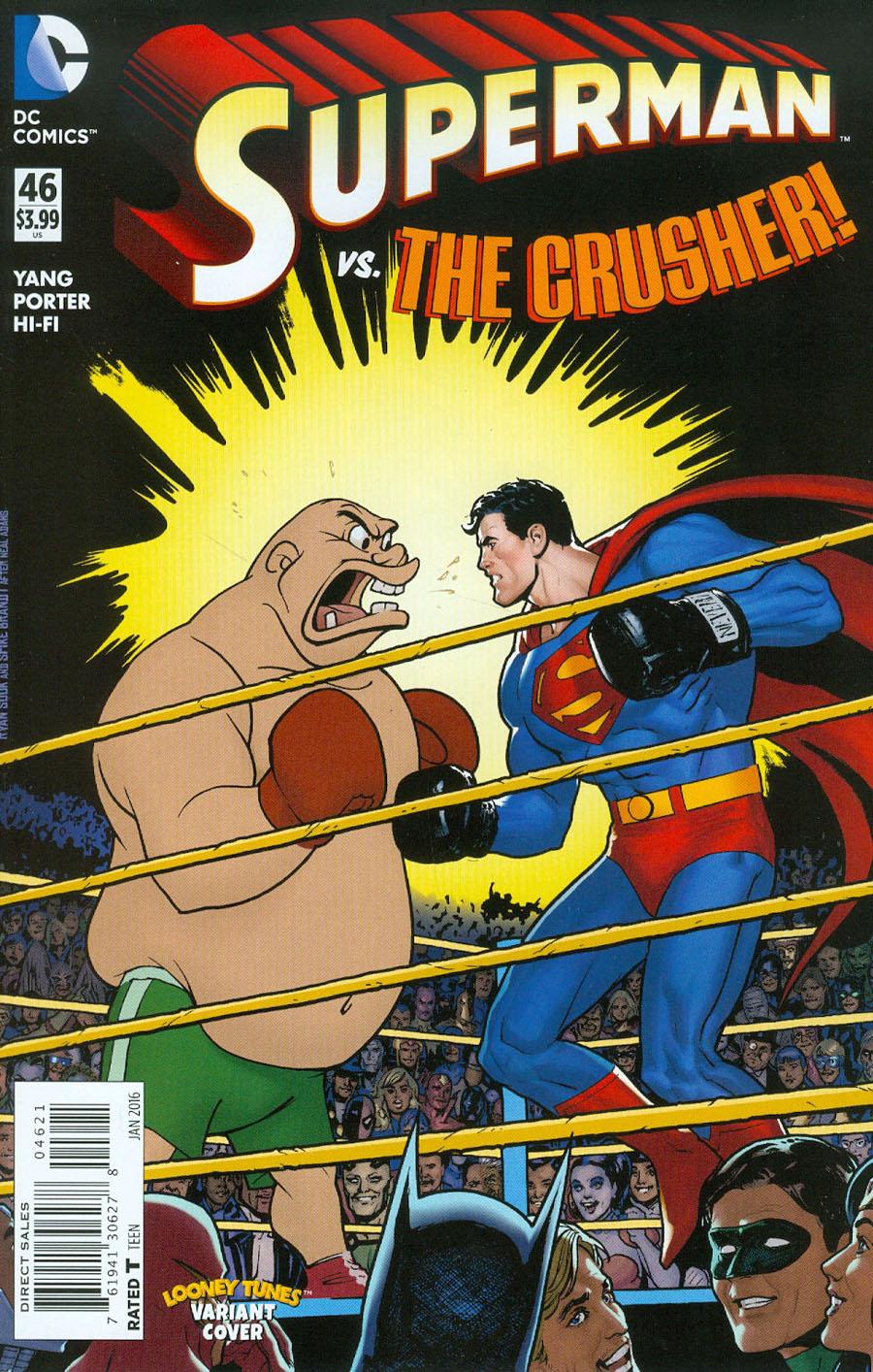 Superman Vol 4 #46 Cover B Variant Ryan Sook & Warner Bros Animation DC x Looney Tunes Cover