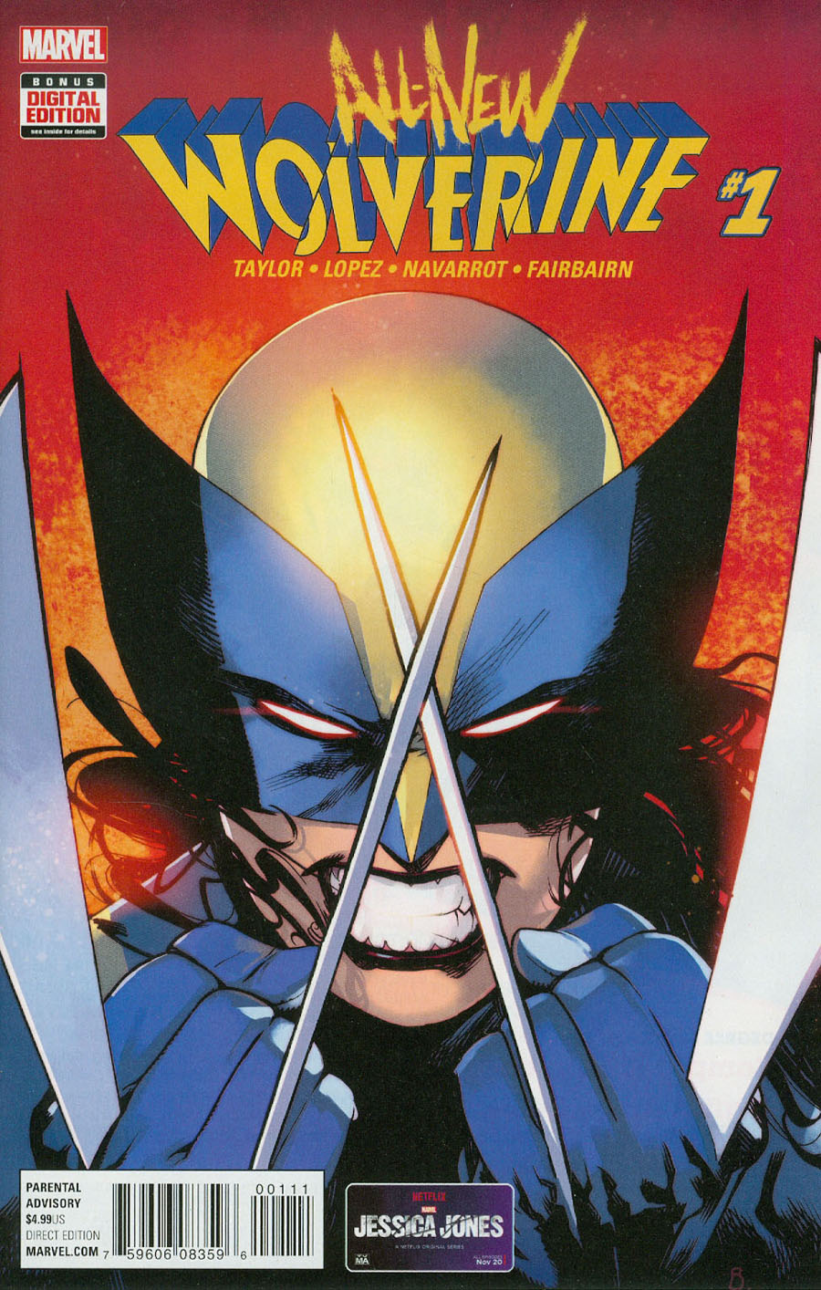 All-New Wolverine #1 Cover A Regular Bengal Cover