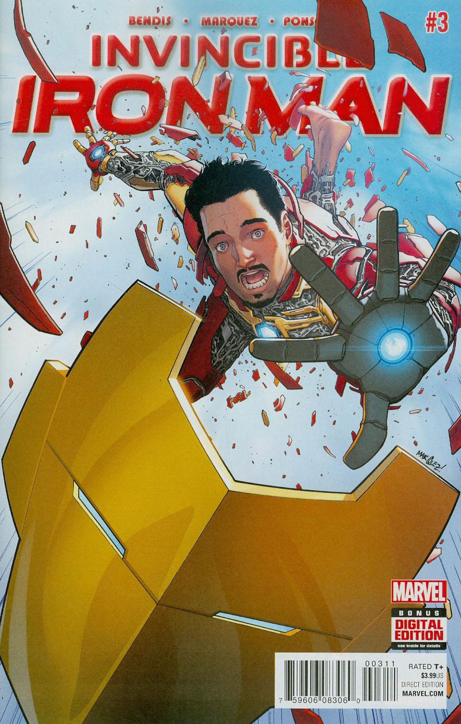 Invincible Iron Man Vol 2 #3 Cover A Regular David Marquez Cover