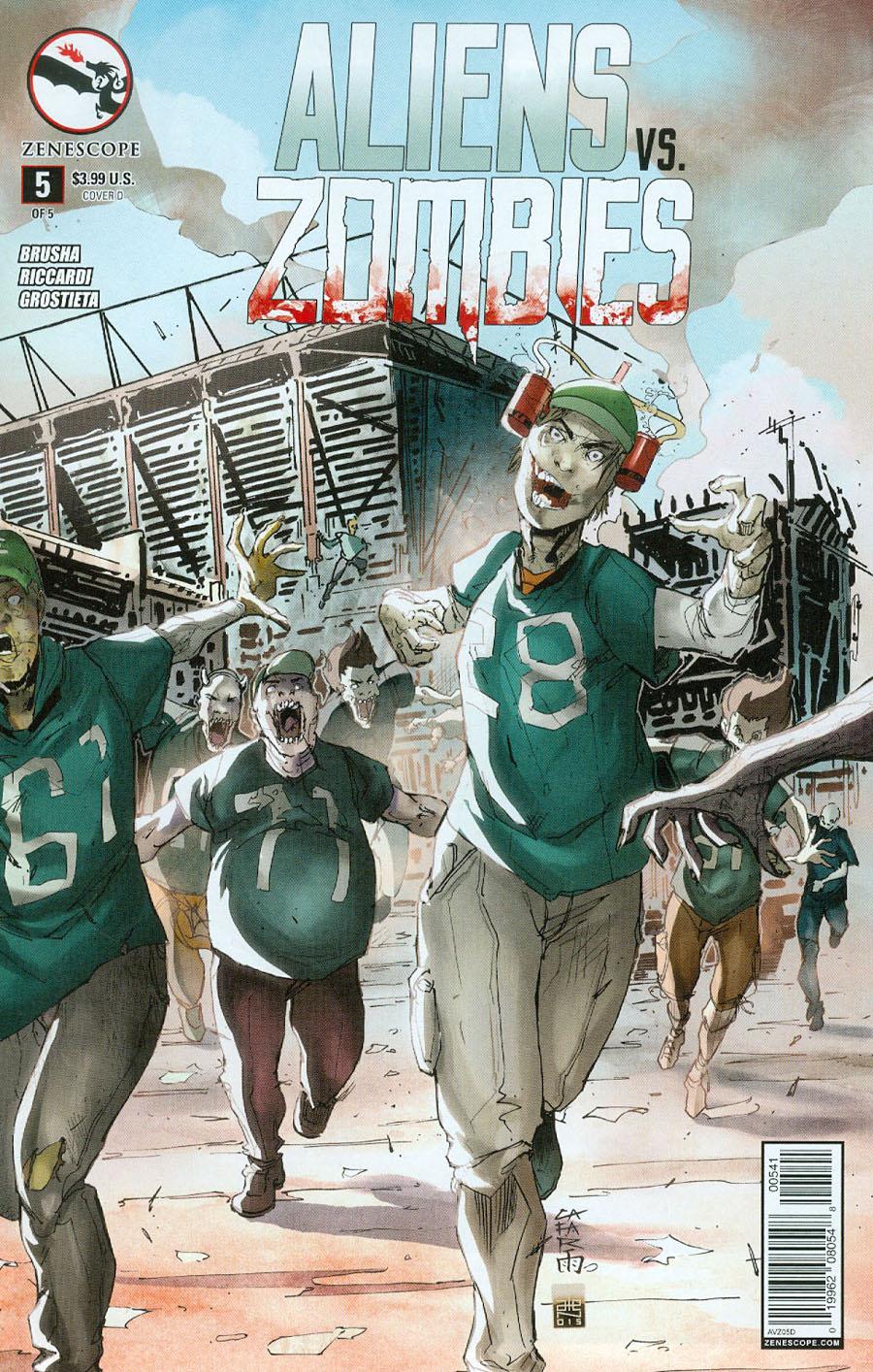 Aliens vs Zombies #5 Cover D Giuseppe Cafaro