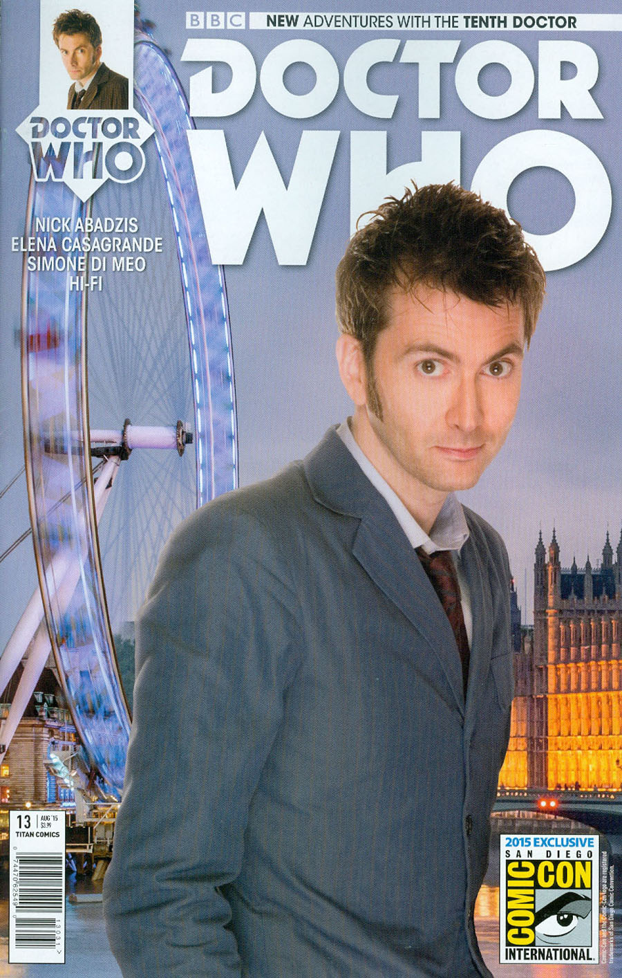 Doctor Who 10th Doctor #13 Cover C SDCC 2015 Exclusive Photo Variant Cover