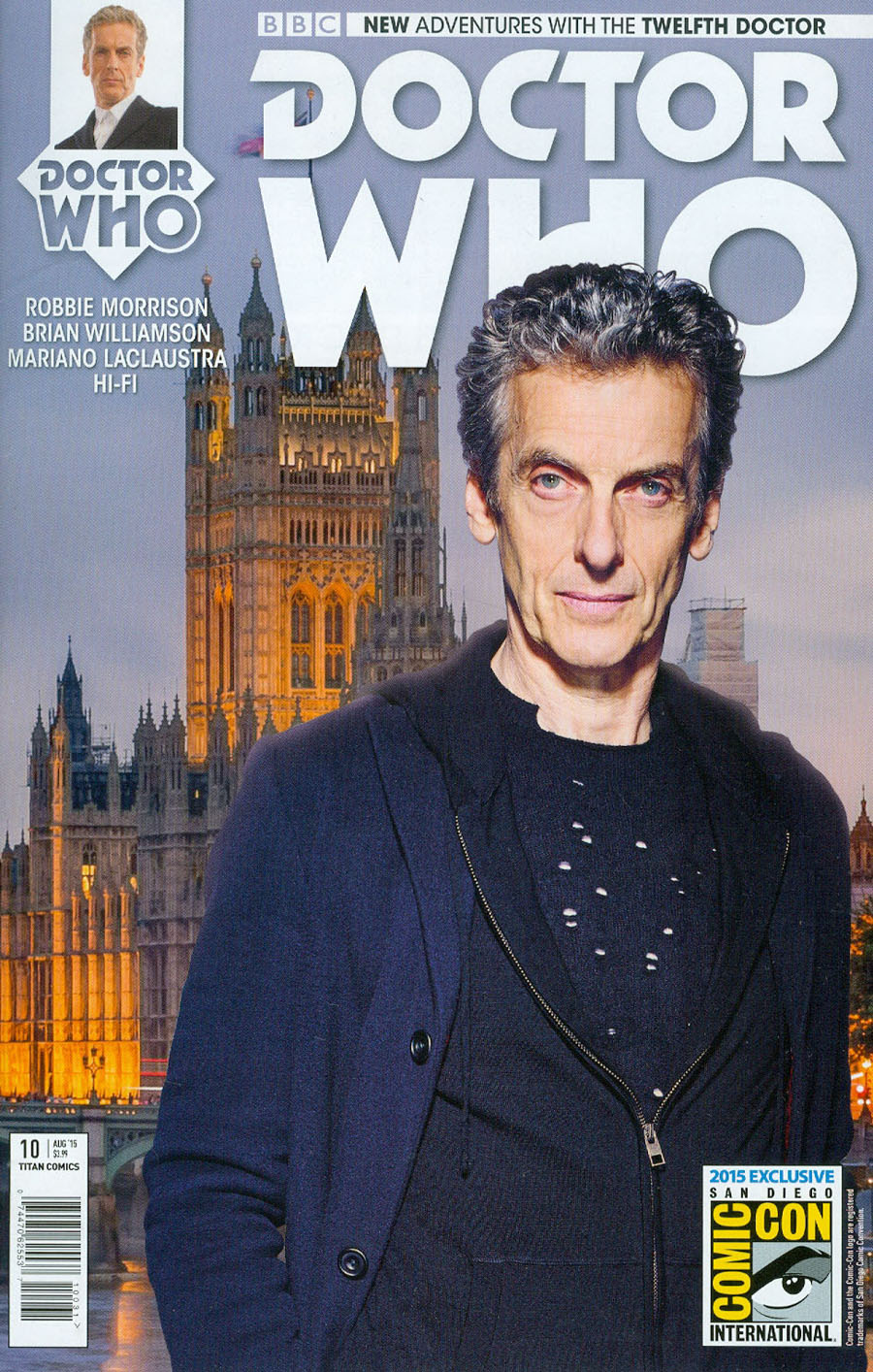Doctor Who 12th Doctor #10 Cover C SDCC 2015 Exclusive Photo Variant Cover