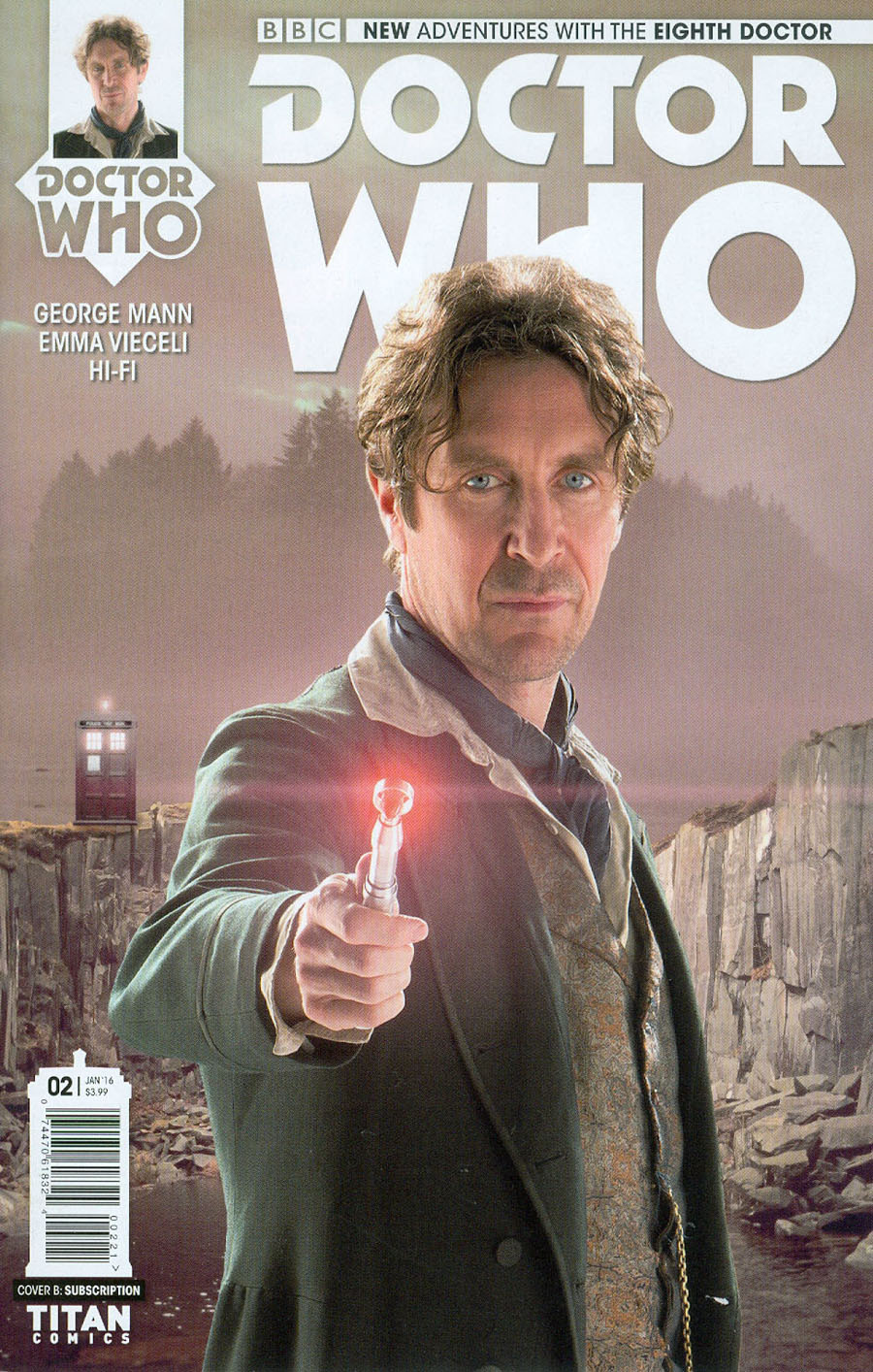 Doctor Who 8th Doctor #2 Cover B Variant Photo Subscription Cover