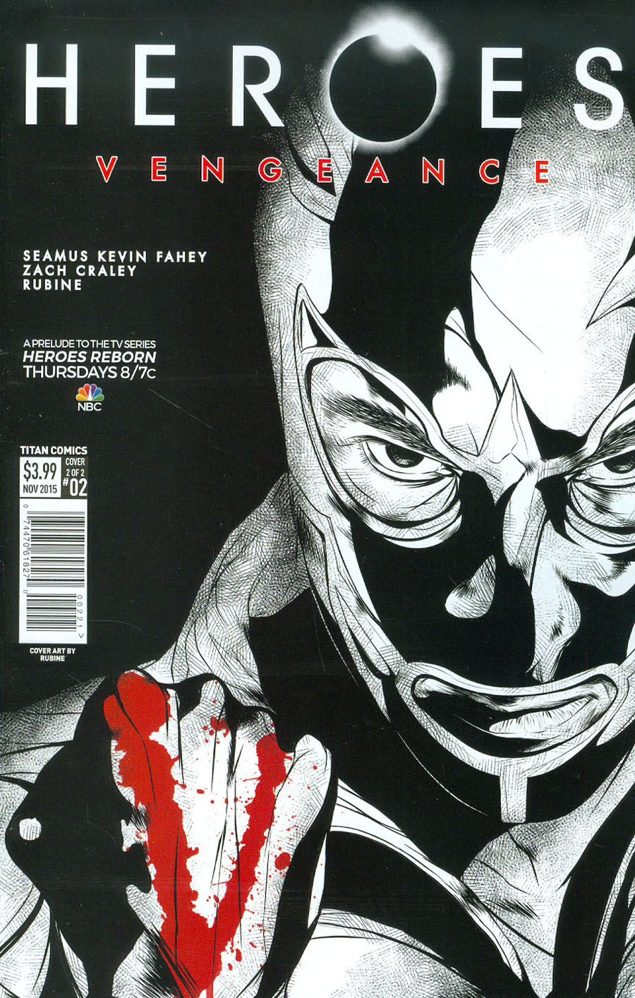 Heroes Vengeance #2 Cover B Variant Rubine Subscription Cover