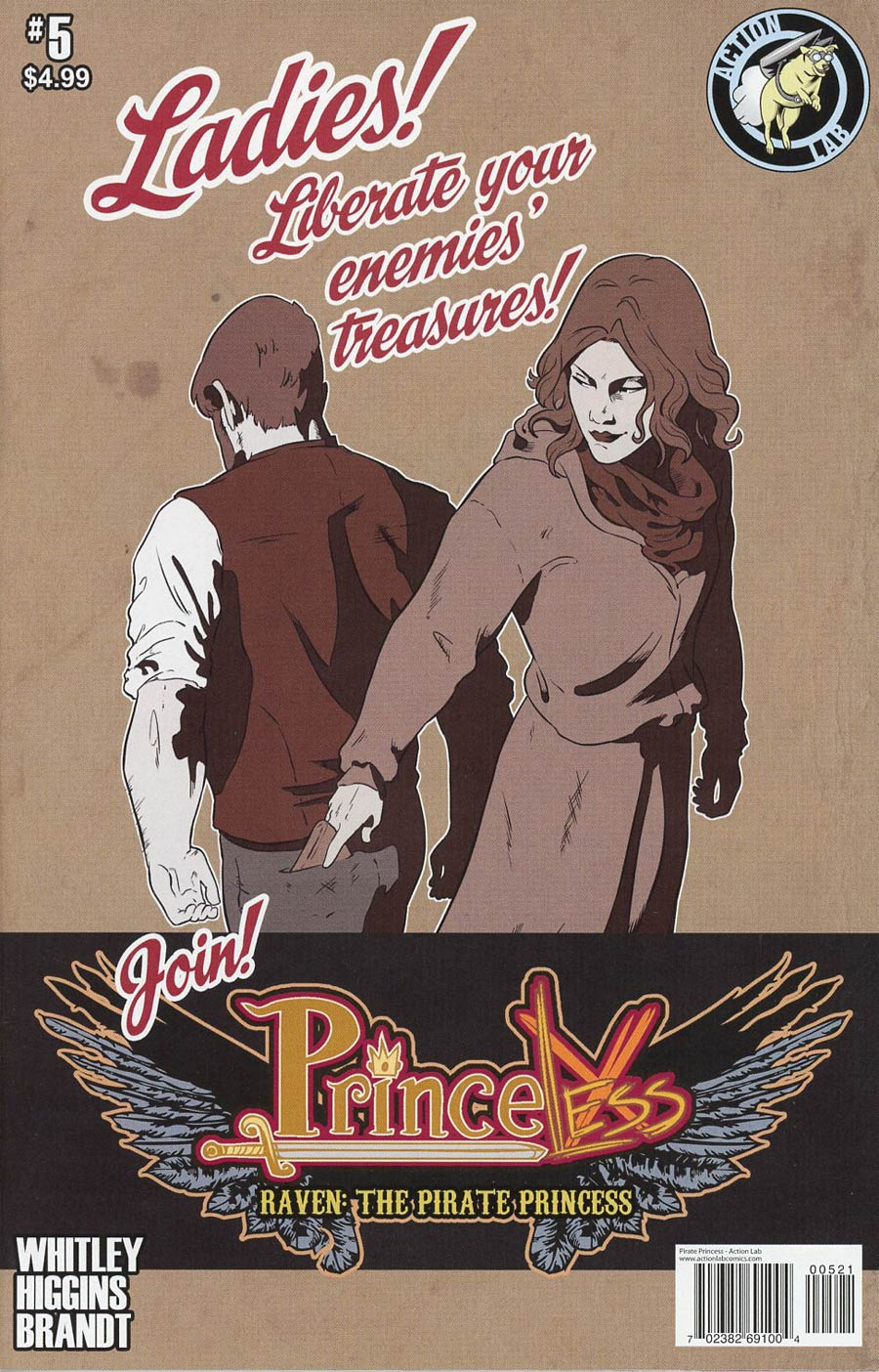 Princeless Raven The Pirate Princess #5 Cover B Variant Rosy Higgins & Ted Brandt Join Raven Cover