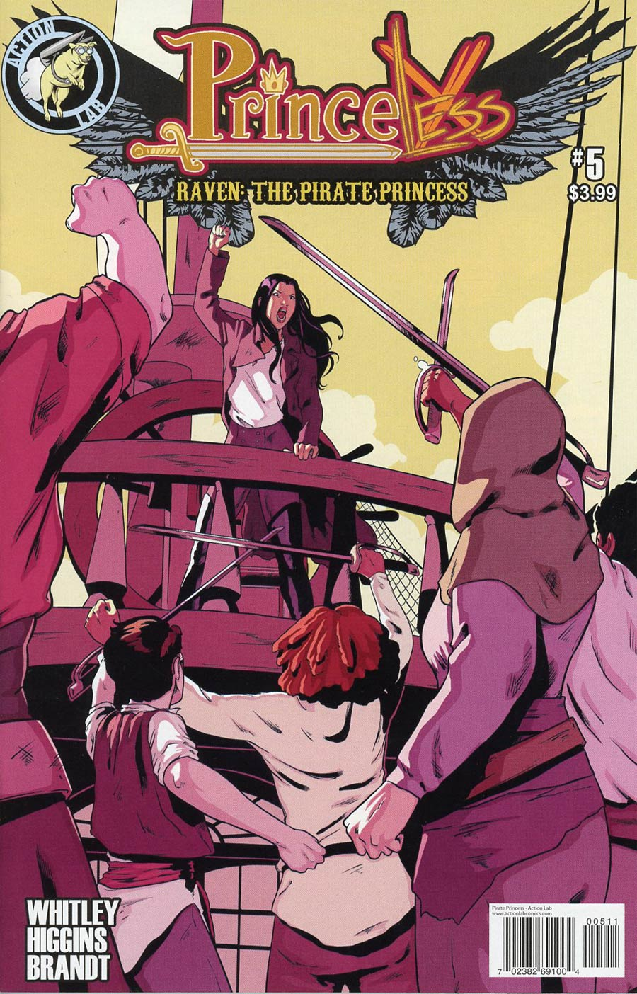 Princeless Raven The Pirate Princess #5 Cover A Regular Rosy Higgins Cover