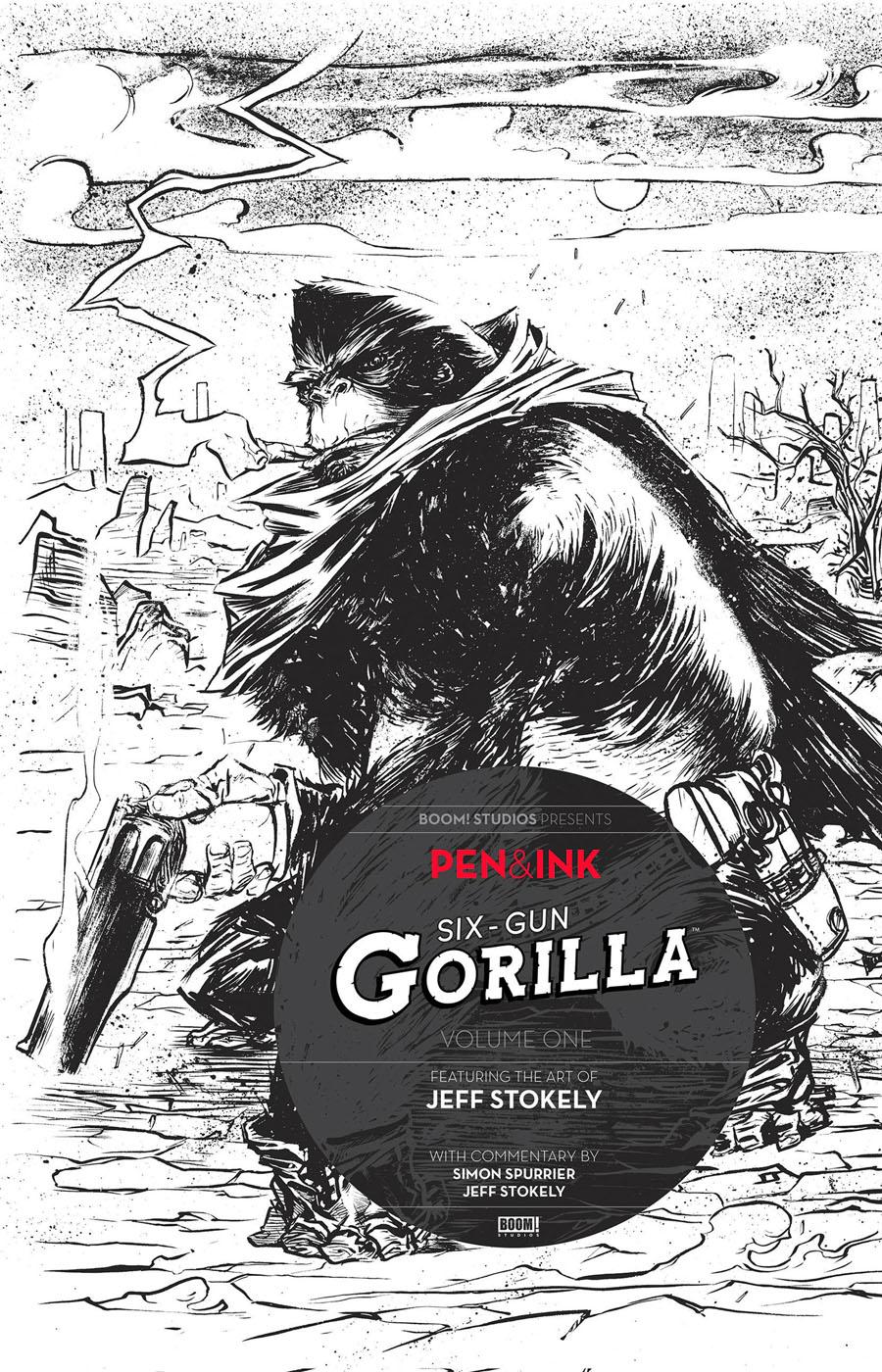 Six-Gun Gorilla Pen & Ink #1