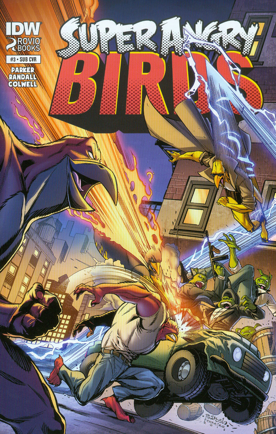 Angry Birds Super Angry Birds #3 Cover B Variant Marcelo Ferreira Subscription Cover