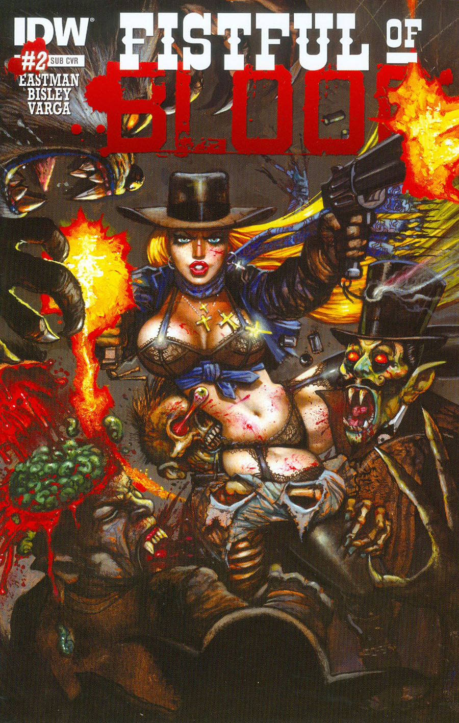 Fistful Of Blood #2 Cover B Variant Kevin Eastman Subscription Cover