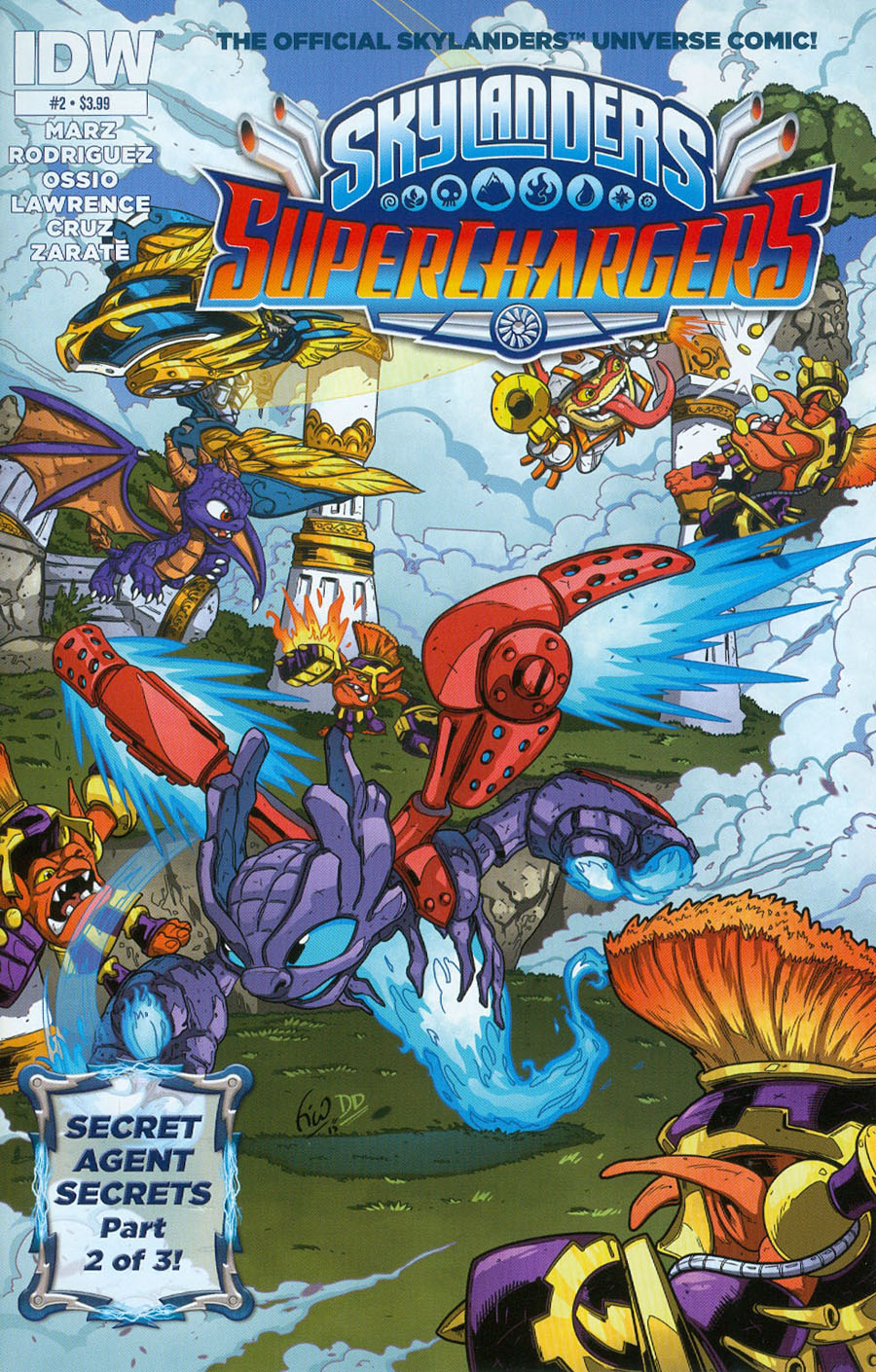 Skylanders Superchargers #2 Cover A Regular Fico Ossio Cover