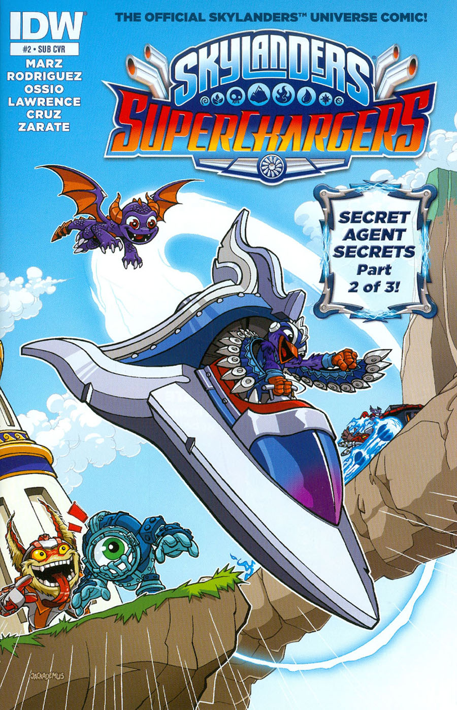 Skylanders Superchargers #2 Cover B Variant Jack Lawrence Subscription Cover