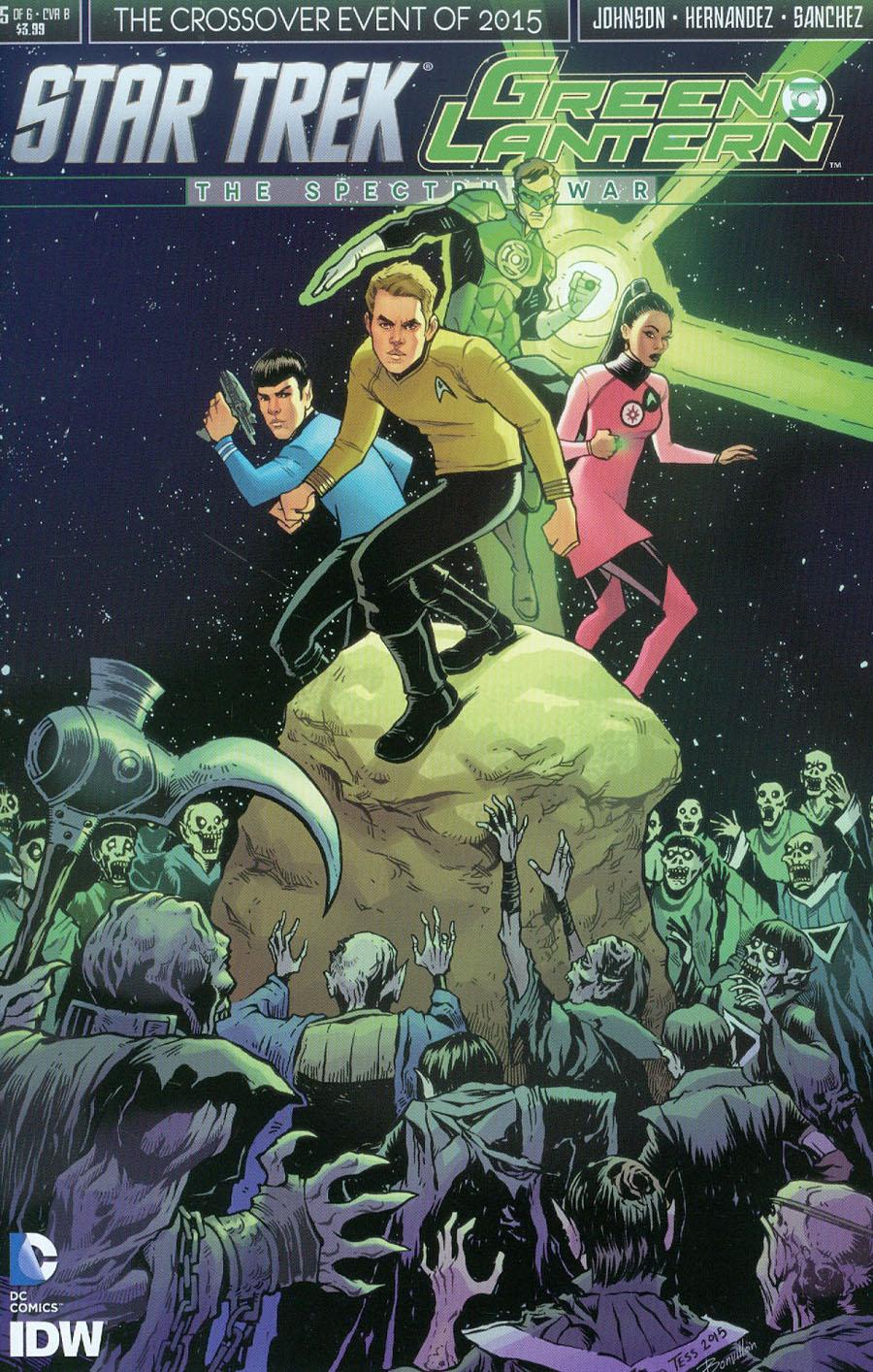 Star Trek Green Lantern #5 Cover B Variant Tess Fowler Subscription Cover