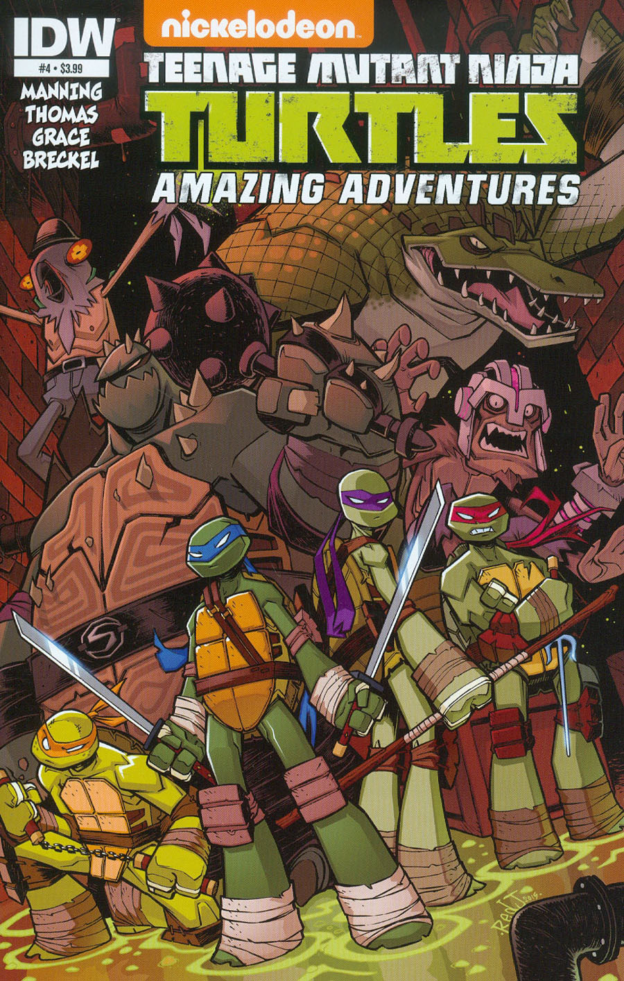 Teenage Mutant Ninja Turtles Amazing Adventures #4 Cover A Regular Jon Sommariva Cover