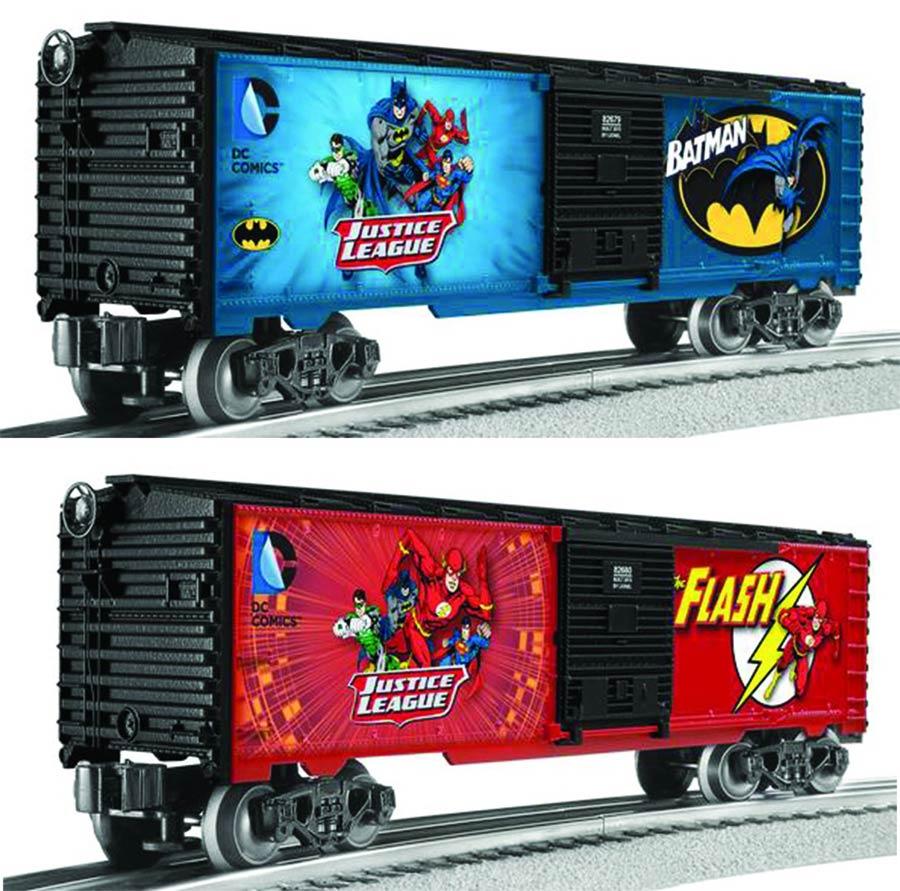 Lionel DC Comics M7 Subway Car 2-Pack - Batman / Flash
