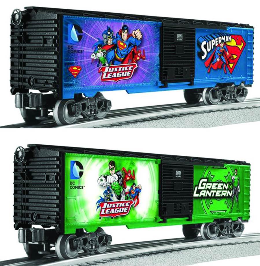 Lionel DC Comics M7 Subway Car 2-Pack - Superman / Green Lantern