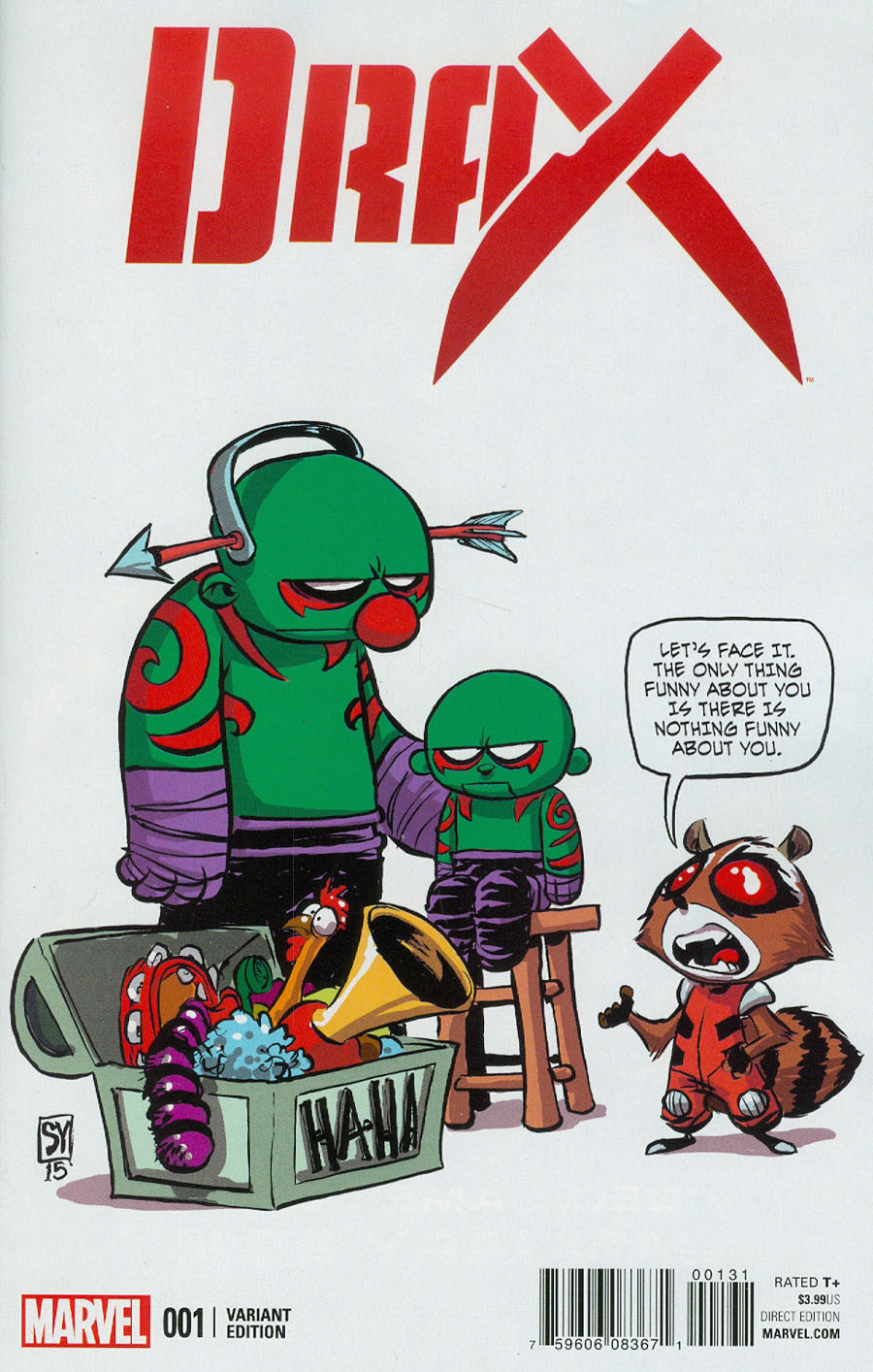 Drax #1 Cover C Variant Skottie Young Baby Cover
