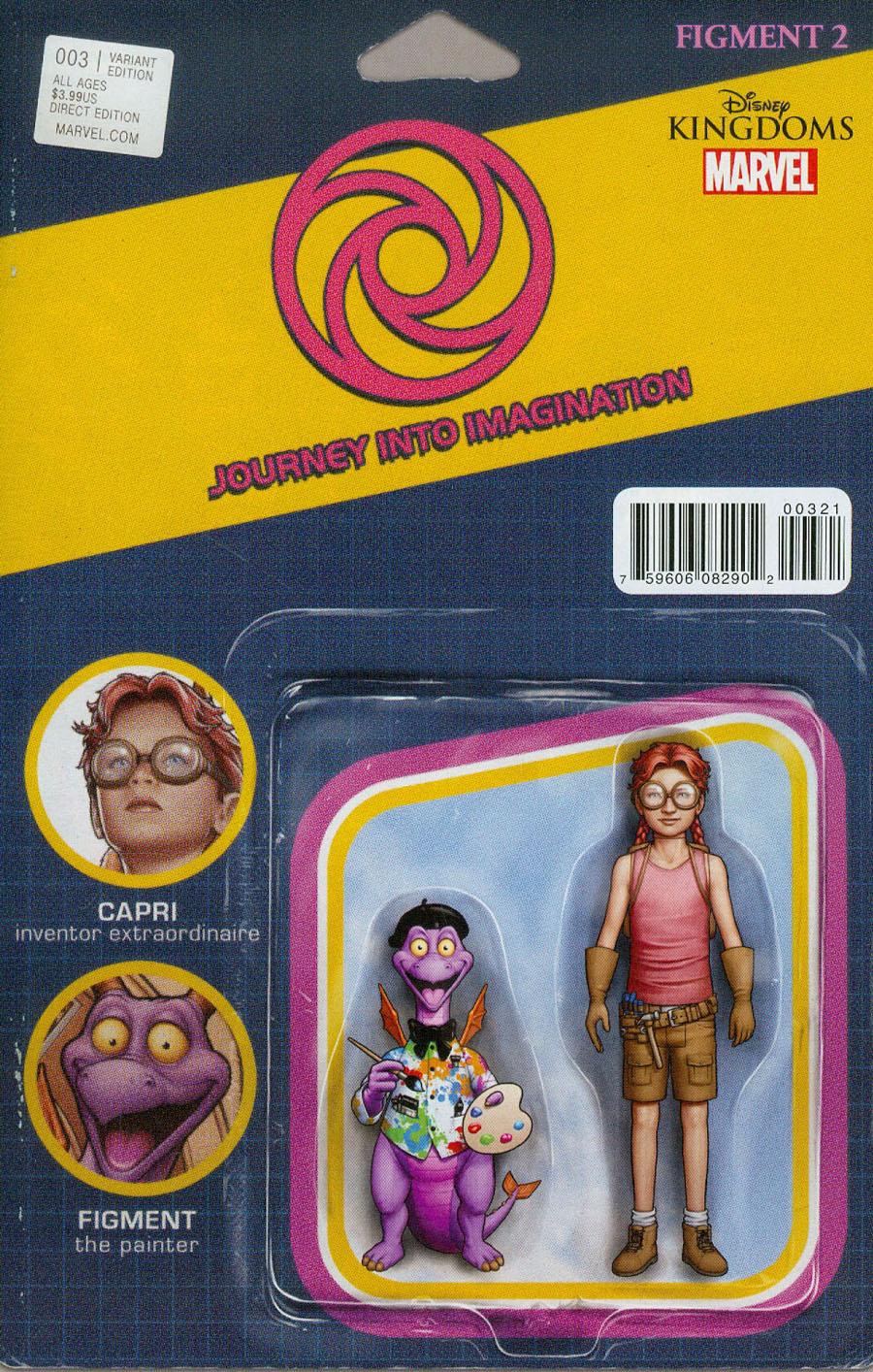 Disney Kingdoms Figment 2 #3 Cover B Variant John Tyler Christopher Action Figure Cover