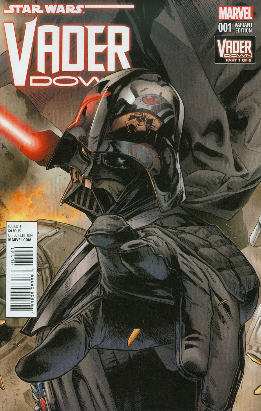 Star Wars Vader Down #1 Cover C Variant Connecting A Cover (Vader Down Part 1)
