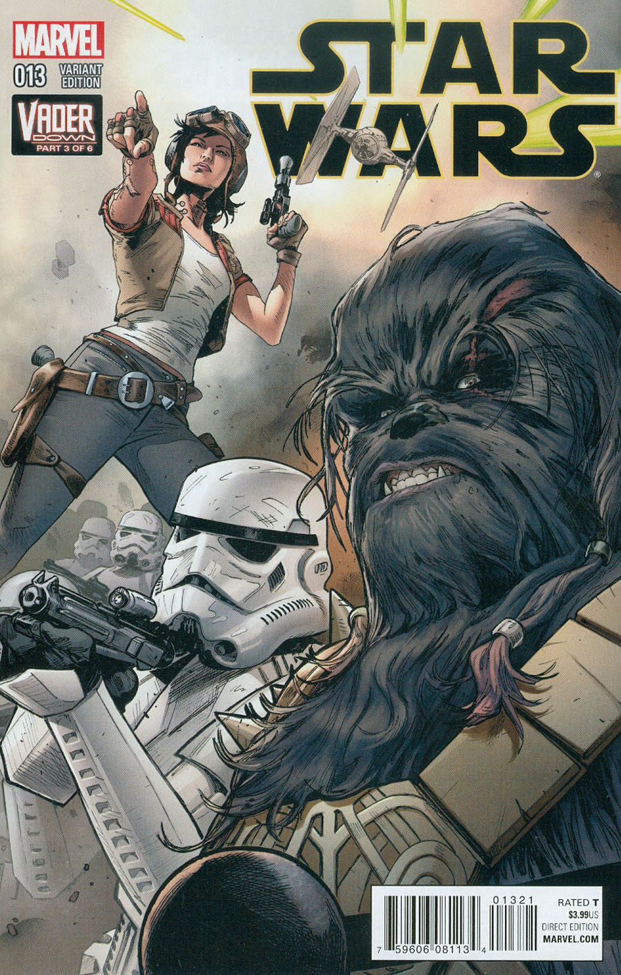 Star Wars Vol 4 #13 Cover B Variant Connecting C Cover (Vader Down Part 3)