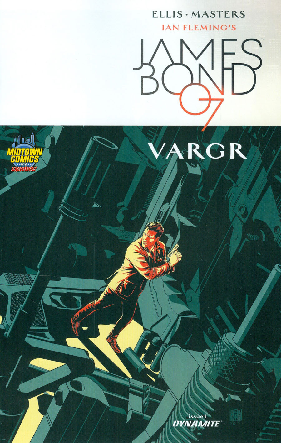 James Bond #1 Cover J Midtown Comics Shared Retailer Exclusive Variant Cover