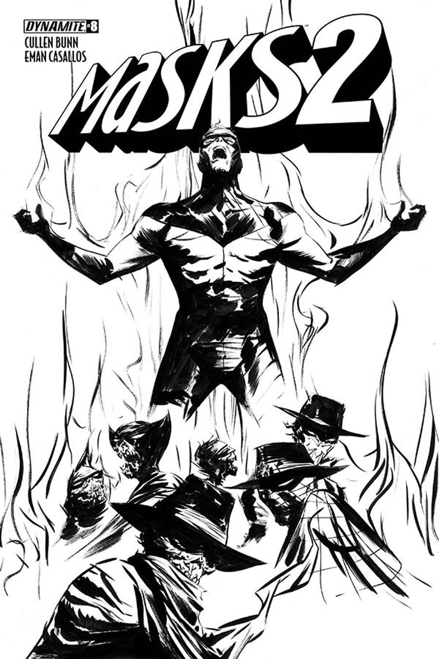 Masks 2 #8 Cover F Incentive Jae Lee Black & White Cover