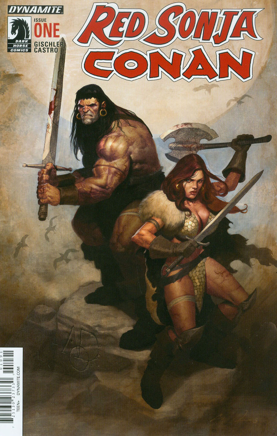 Red Sonja Conan #1 Cover I Premium Aod Collectables Exclusive Ariel Olivetti Variant Cover