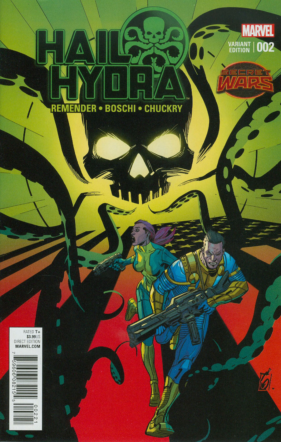 Hail Hydra #2 Cover B Incentive Ron Garney Variant Cover (Secret Wars Warzones Tie-In)