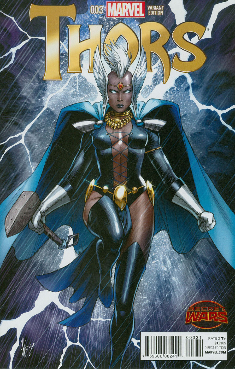 Thors #3 Cover C Incentive Dale Keown Variant Cover (Secret Wars Battleworld Tie-In)