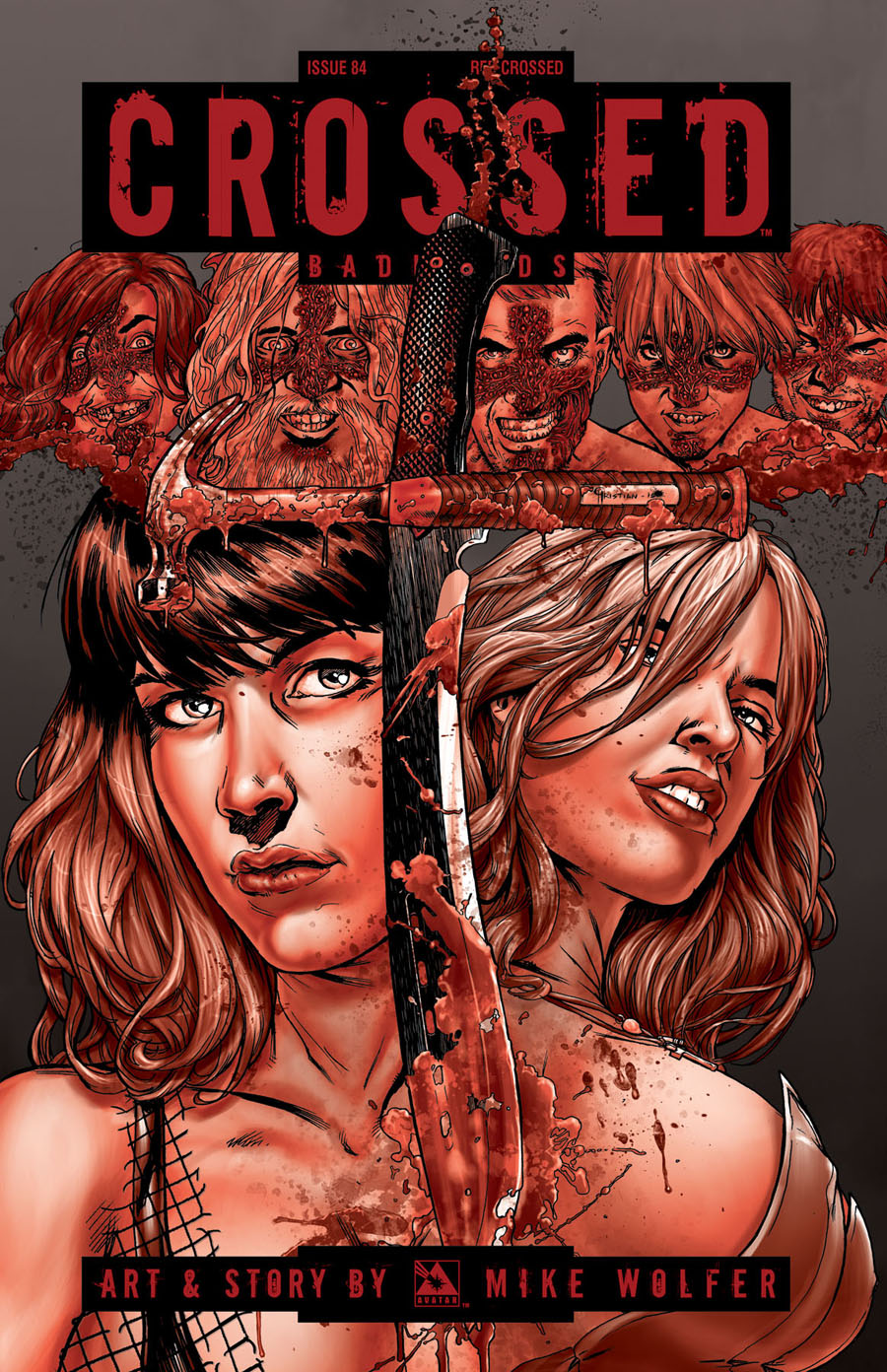 Crossed Badlands #84 Cover F Incentive Red Crossed Edition