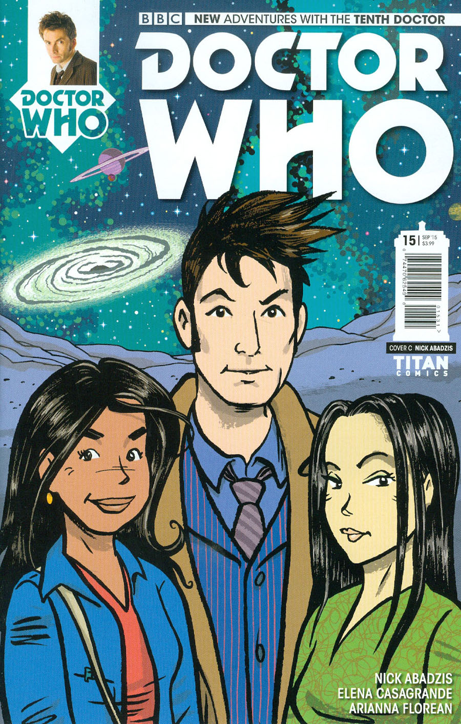 Doctor Who 10th Doctor #15 Cover C Incentive Nick Abadzis Variant Cover
