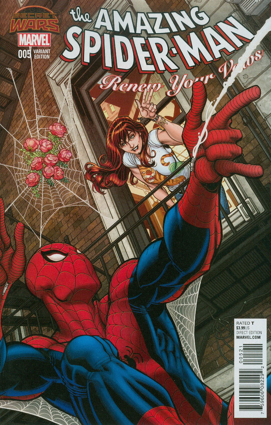 Amazing Spider-Man Renew Your Vows #5 Cover B Incentive Nick Bradshaw Variant Cover (Secret Wars Warzones Tie-In)
