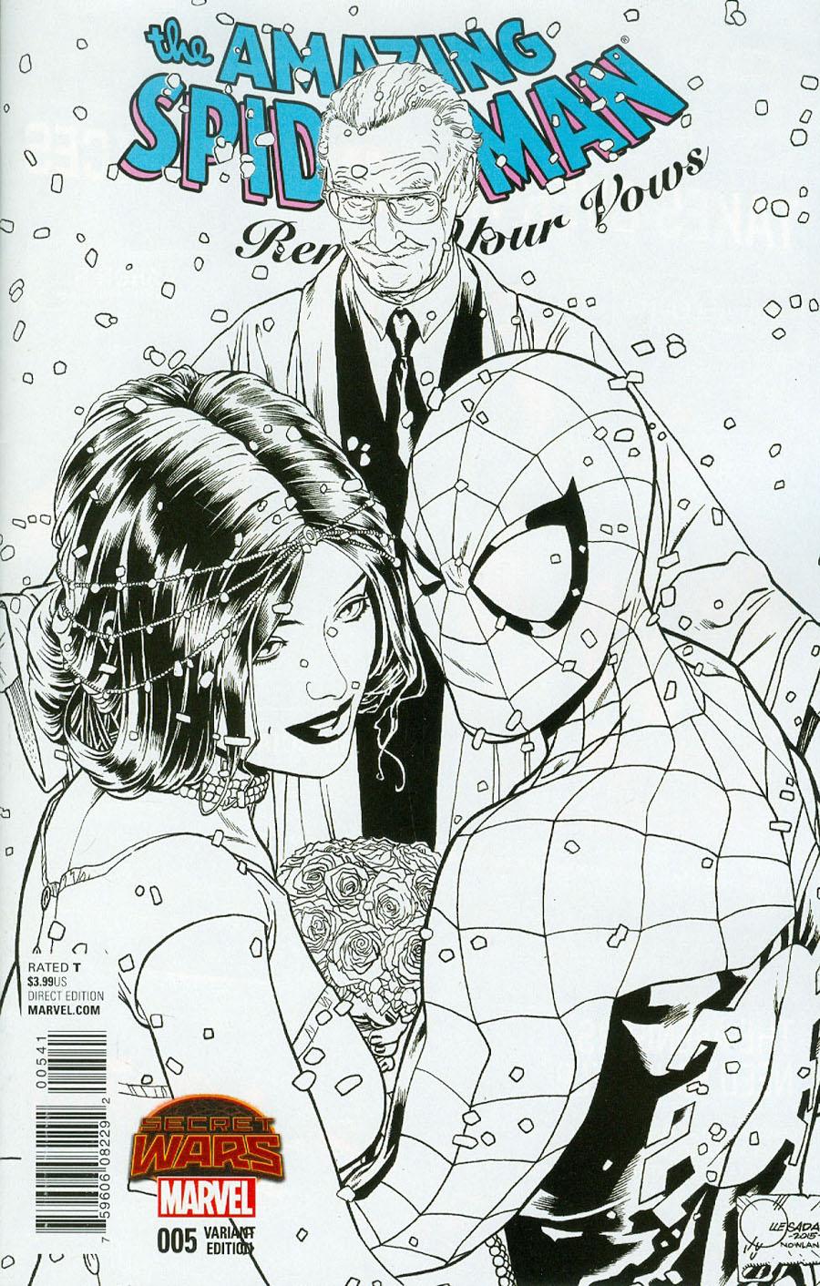 Amazing Spider-Man Renew Your Vows #5 Cover D Incentive Joe Quesada Sketch Variant A Cover (Secret Wars Warzones Tie-In)