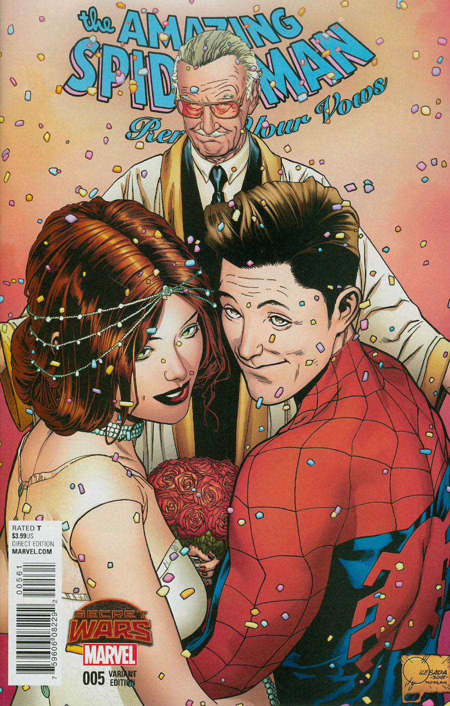 Amazing Spider-Man Renew Your Vows #5 Cover E Incentive Joe Quesada Color Variant B Cover (Secret Wars Warzones Tie-In)