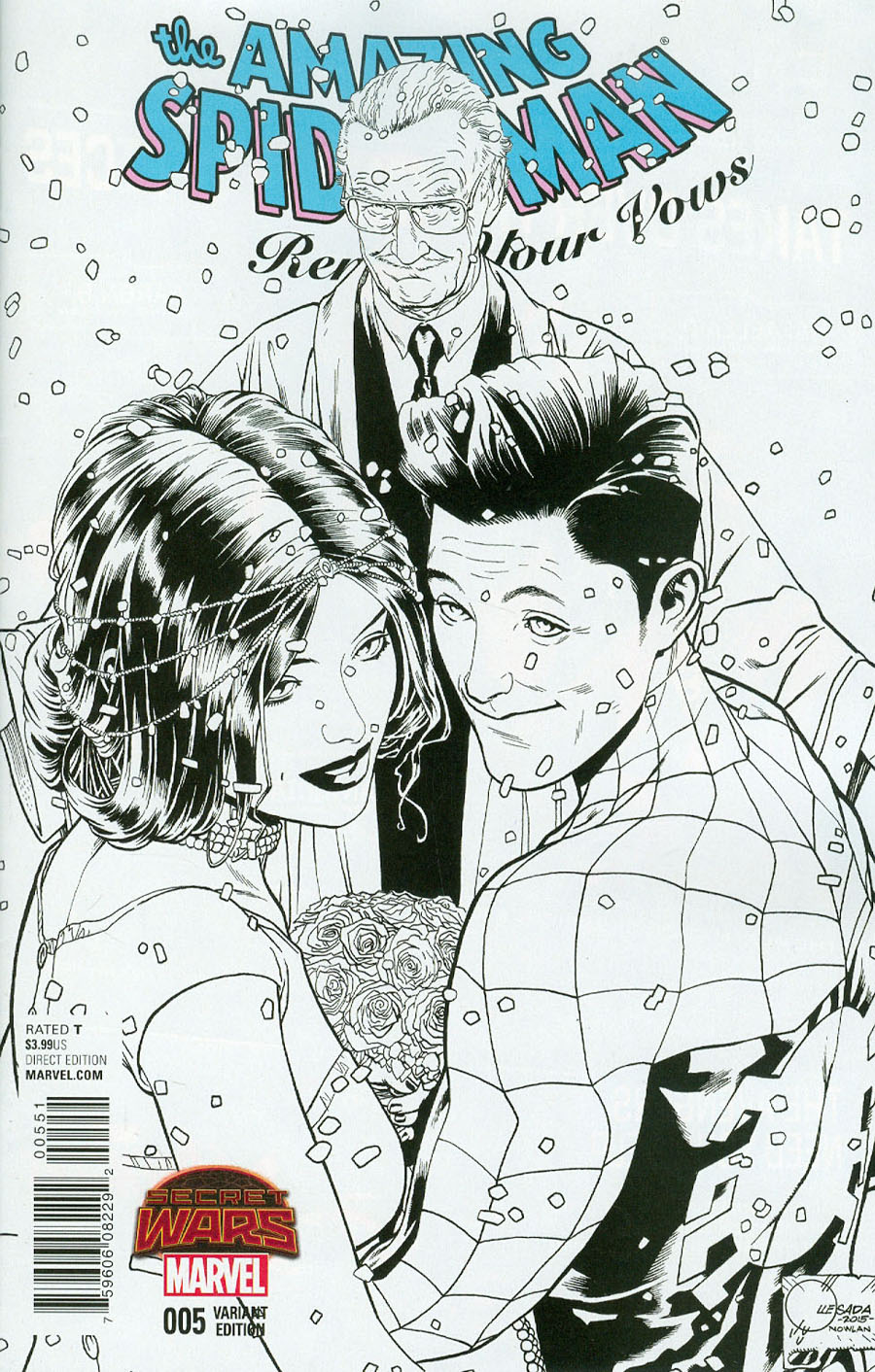 Amazing Spider-Man Renew Your Vows #5 Cover F Incentive Joe Quesada Sketch Variant B Cover (Secret Wars Warzones Tie-In)